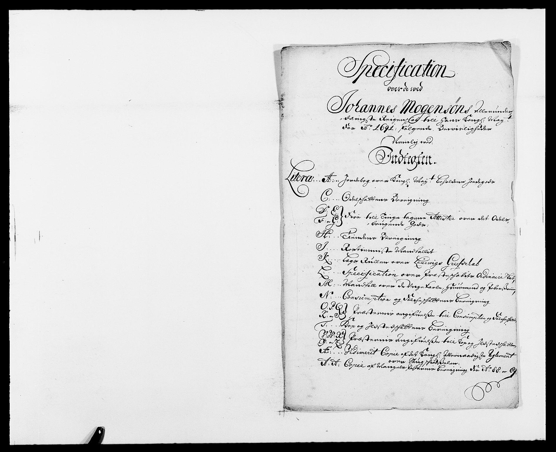 RA, Rentekammeret inntil 1814, Reviderte regnskaper, Fogderegnskap, R33/L1972: Fogderegnskap Larvik grevskap, 1690-1691, s. 238