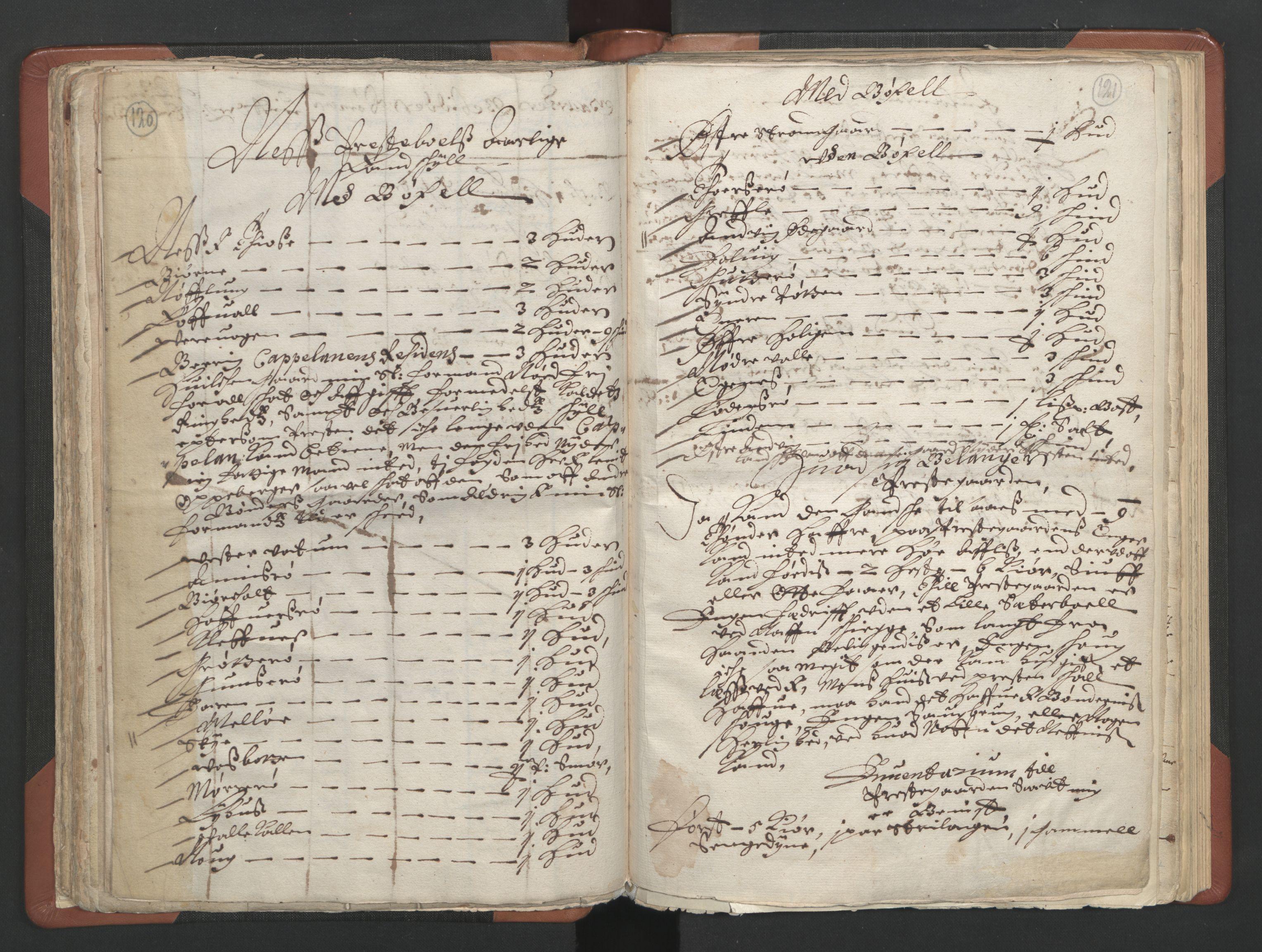 RA, Sogneprestenes manntall 1664-1666, nr. 11: Brunlanes prosti, 1664-1666, s. 120-121