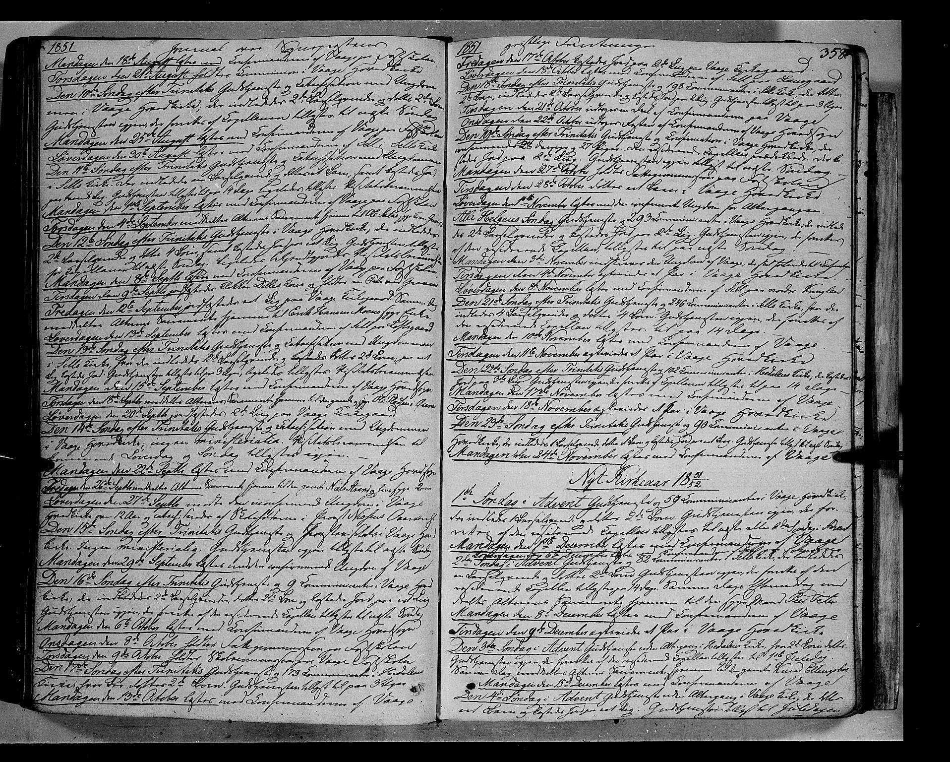 SAH, Vågå prestekontor, Ministerialbok nr. 5 /1, 1842-1856, s. 358