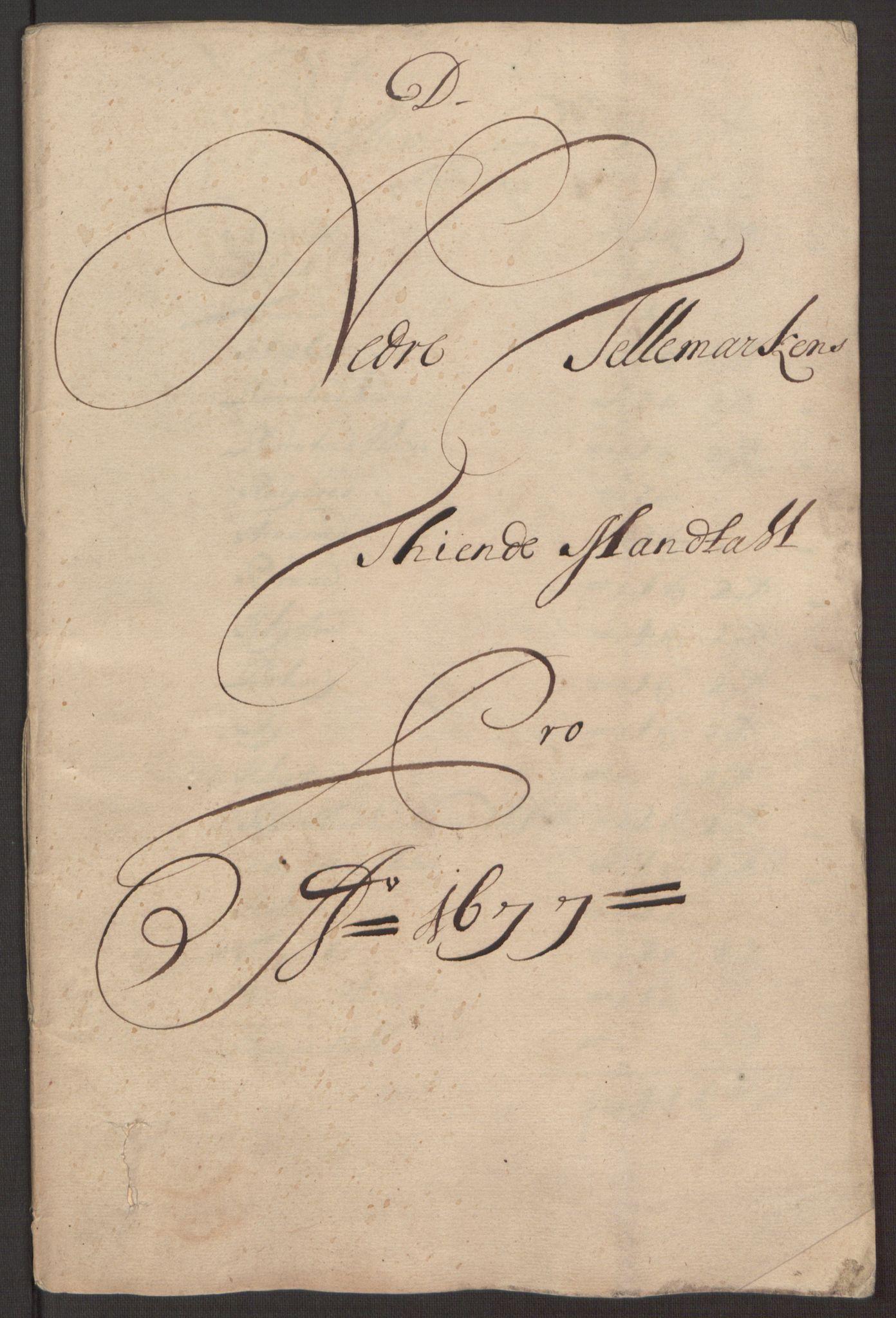 RA, Rentekammeret inntil 1814, Reviderte regnskaper, Fogderegnskap, R35/L2068: Fogderegnskap Øvre og Nedre Telemark, 1677, s. 100