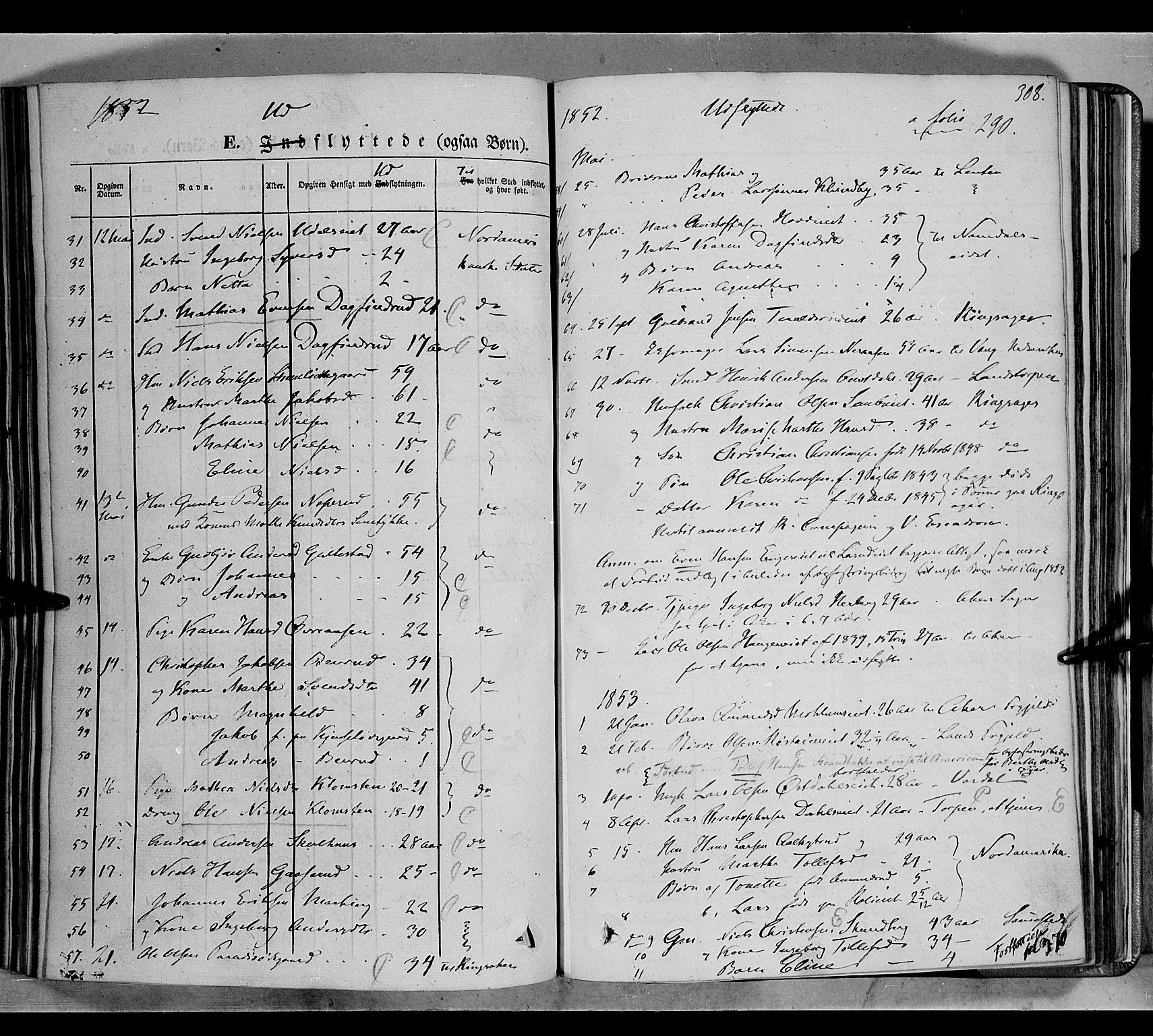 SAH, Biri prestekontor, Ministerialbok nr. 5, 1843-1854, s. 308