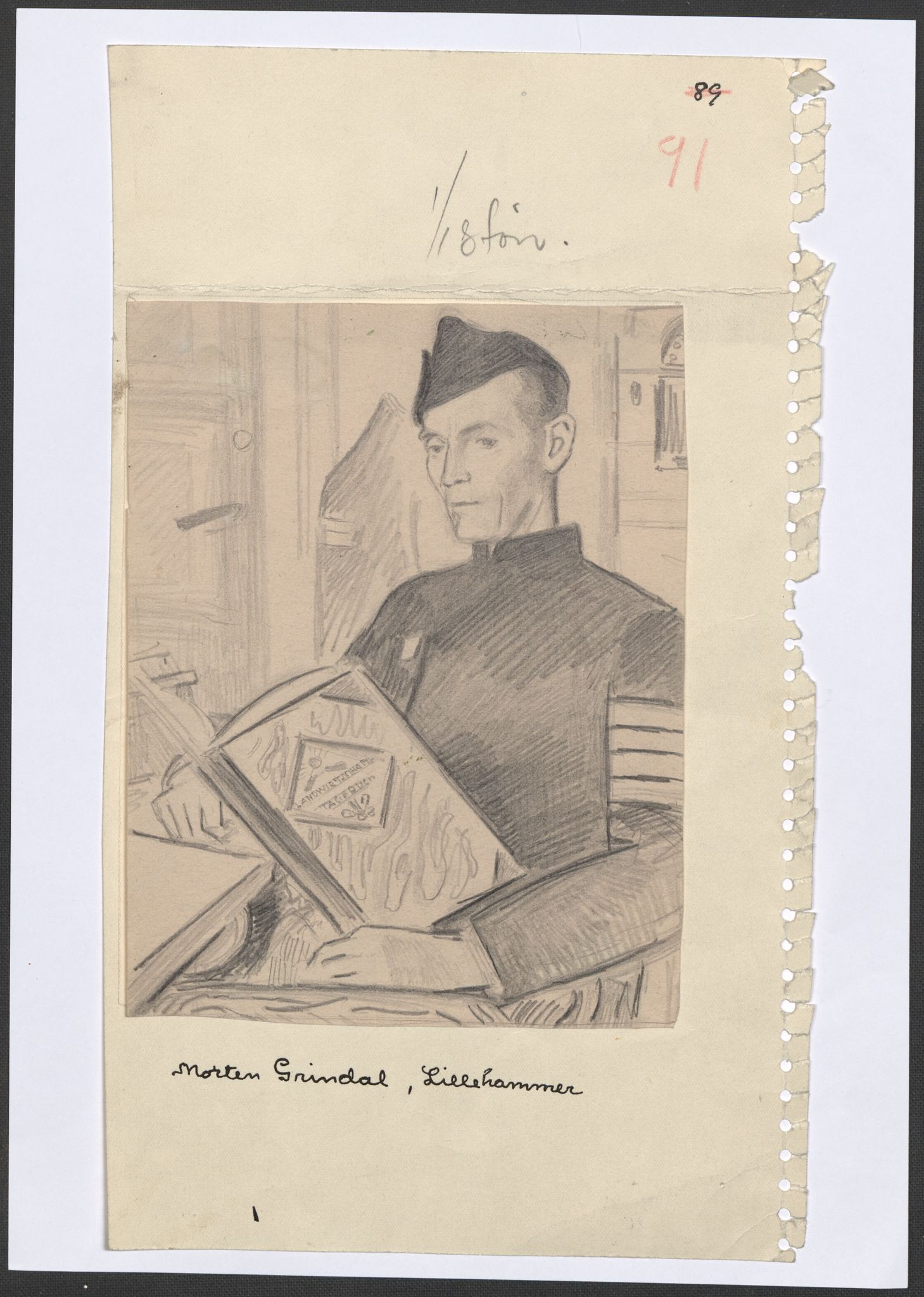 RA, Grøgaard, Joachim, F/L0002: Tegninger og tekster, 1942-1945, s. 5
