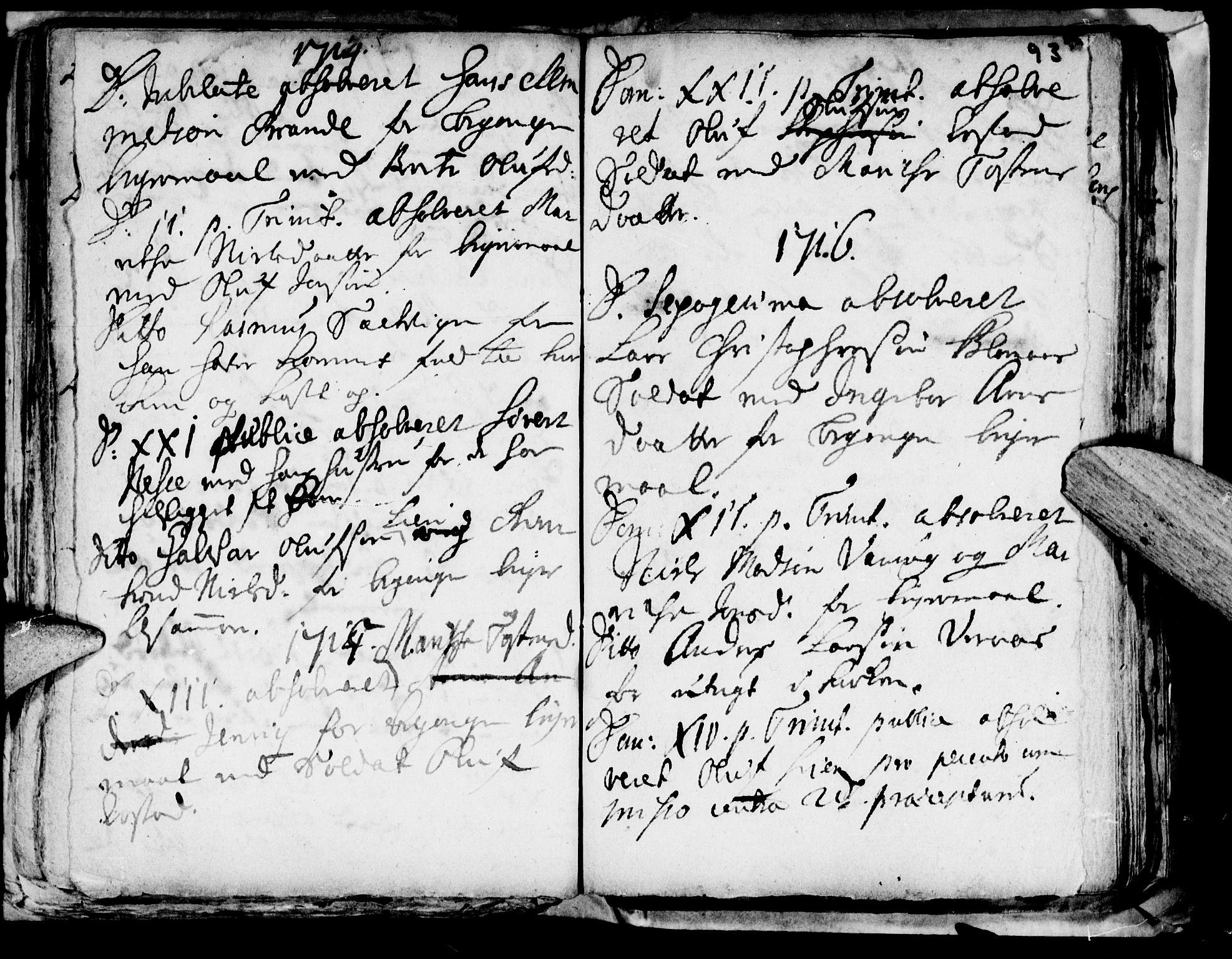 SAT, Ministerialprotokoller, klokkerbøker og fødselsregistre - Nord-Trøndelag, 722/L0214: Ministerialbok nr. 722A01, 1692-1718, s. 93