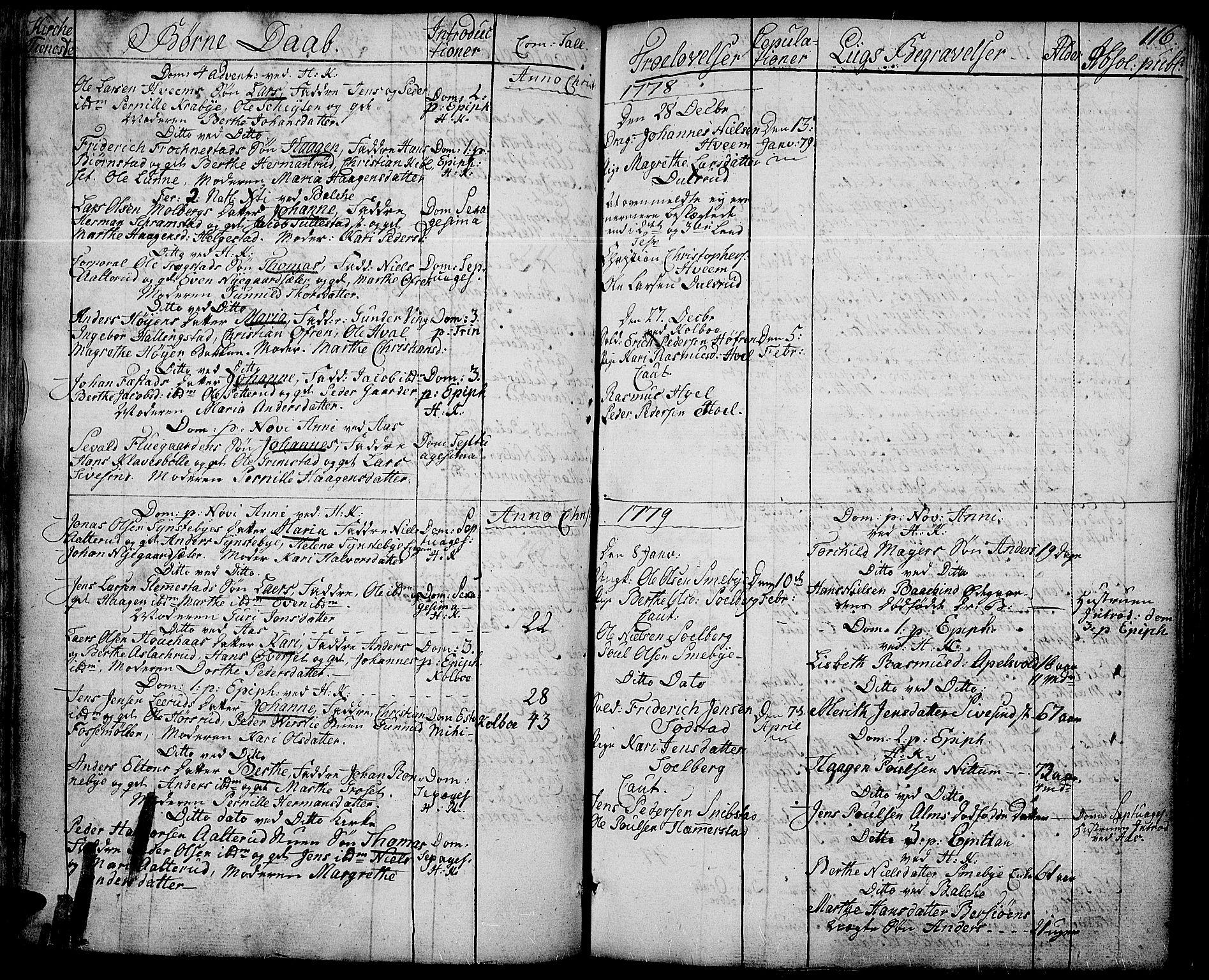 SAH, Toten prestekontor, Ministerialbok nr. 6, 1773-1793, s. 116
