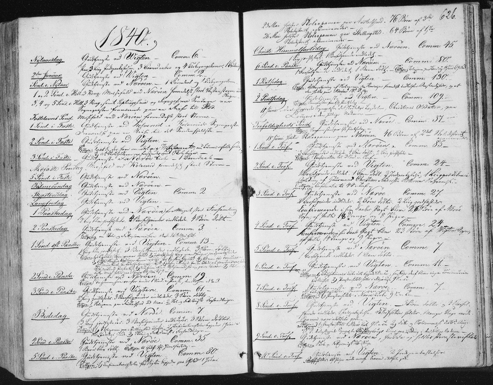 SAT, Ministerialprotokoller, klokkerbøker og fødselsregistre - Nord-Trøndelag, 784/L0669: Ministerialbok nr. 784A04, 1829-1859, s. 626