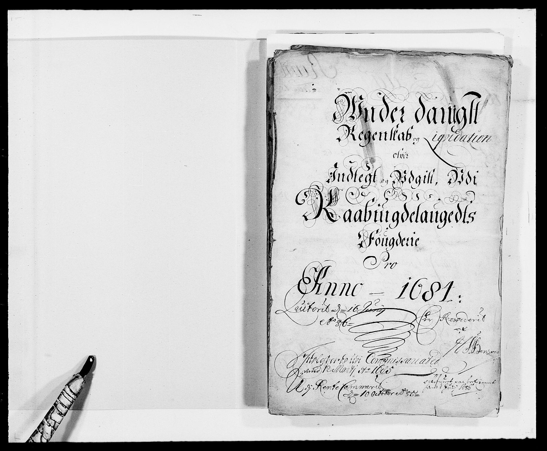 RA, Rentekammeret inntil 1814, Reviderte regnskaper, Fogderegnskap, R40/L2439: Fogderegnskap Råbyggelag, 1684-1685, s. 2