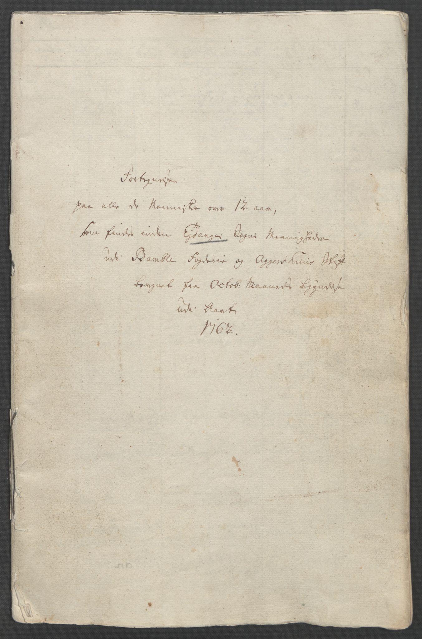 RA, Rentekammeret inntil 1814, Reviderte regnskaper, Fogderegnskap, R37/L2239: Ekstraskatten Nedre Telemark og Bamble, 1762-1763, s. 267
