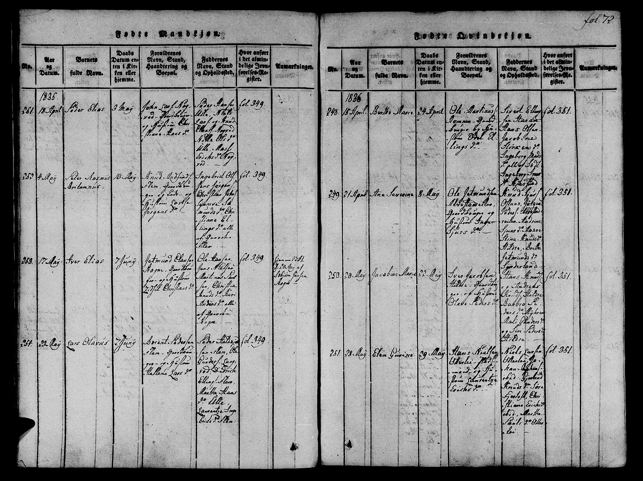 SAT, Ministerialprotokoller, klokkerbøker og fødselsregistre - Møre og Romsdal, 536/L0495: Ministerialbok nr. 536A04, 1818-1847, s. 72