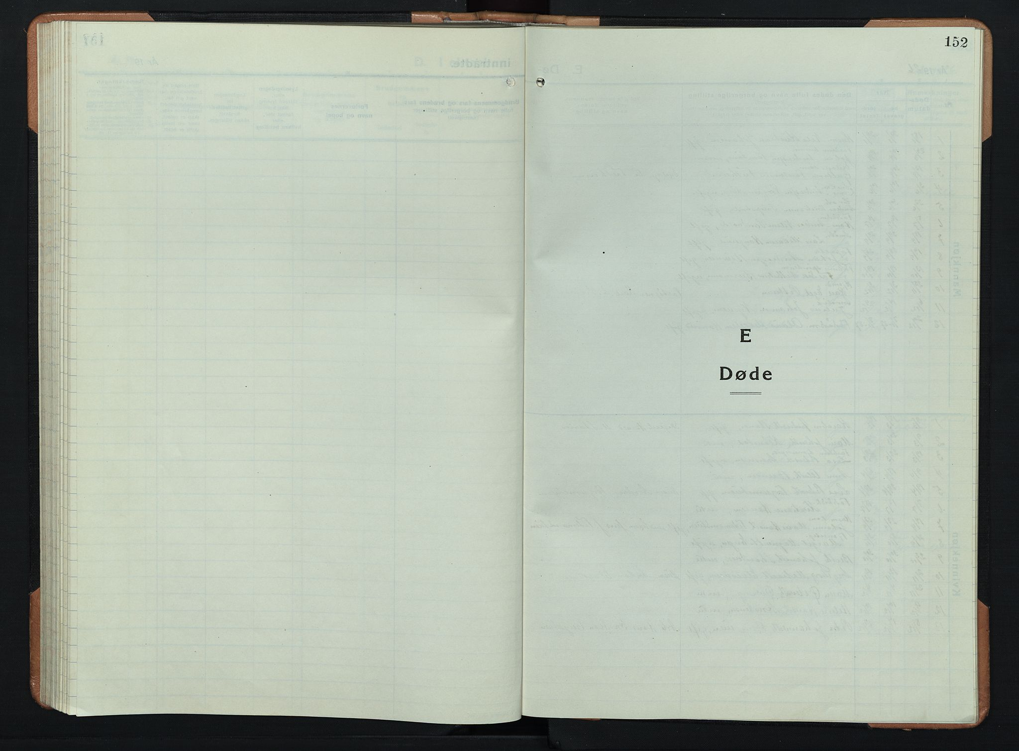 SAH, Søndre Land prestekontor, L/L0008: Klokkerbok nr. 8, 1926-1950, s. 152