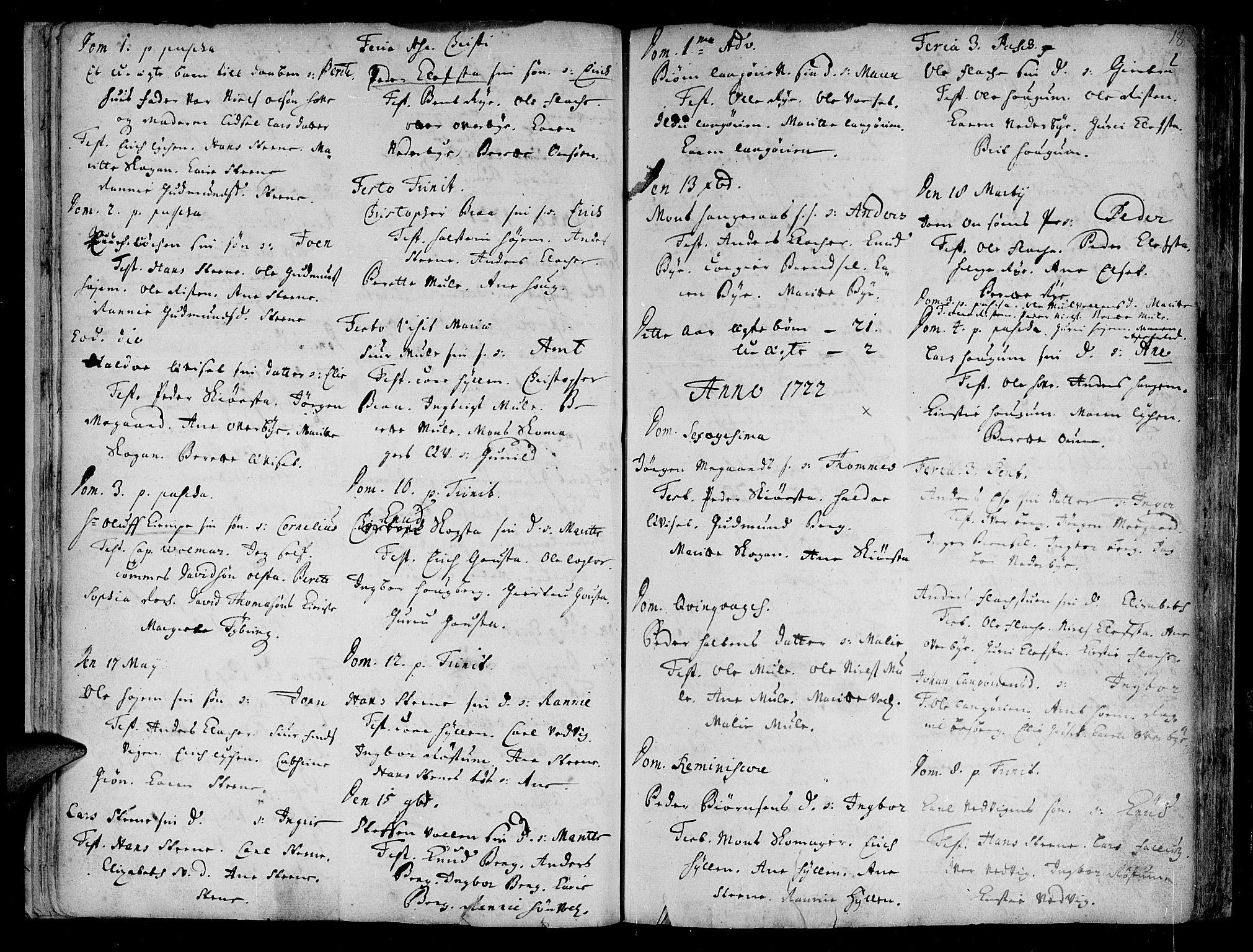 SAT, Ministerialprotokoller, klokkerbøker og fødselsregistre - Sør-Trøndelag, 612/L0368: Ministerialbok nr. 612A02, 1702-1753, s. 18