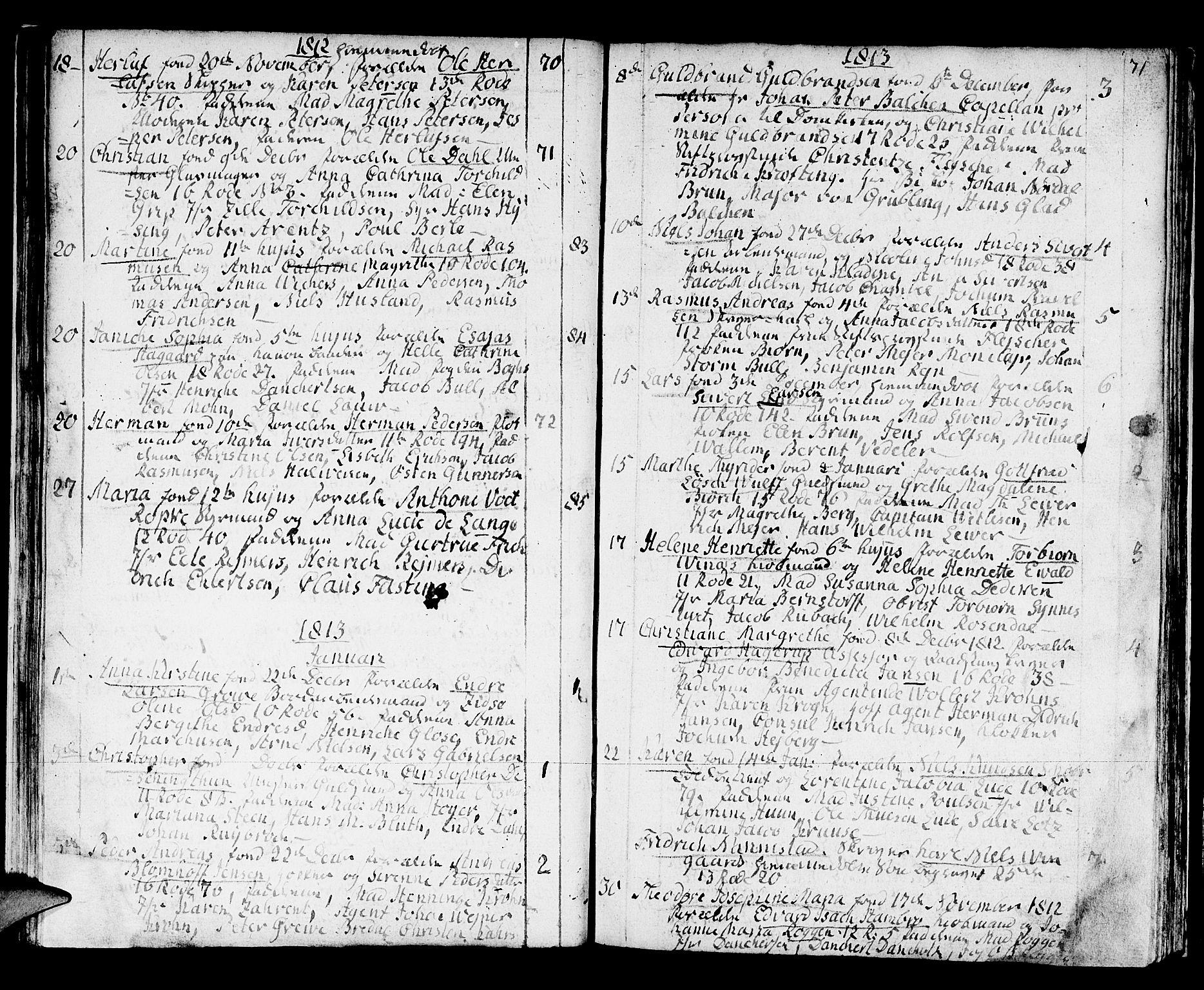 SAB, Domkirken Sokneprestembete, H/Haa/L0005: Ministerialbok nr. A 5, 1808-1820, s. 70-71