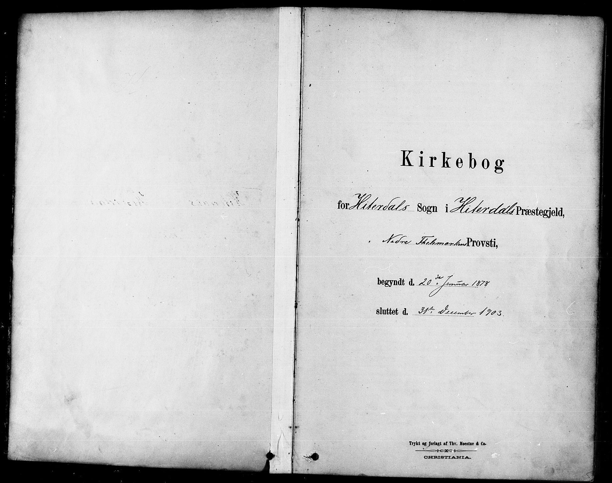SAKO, Heddal kirkebøker, F/Fa/L0009: Ministerialbok nr. I 9, 1878-1903