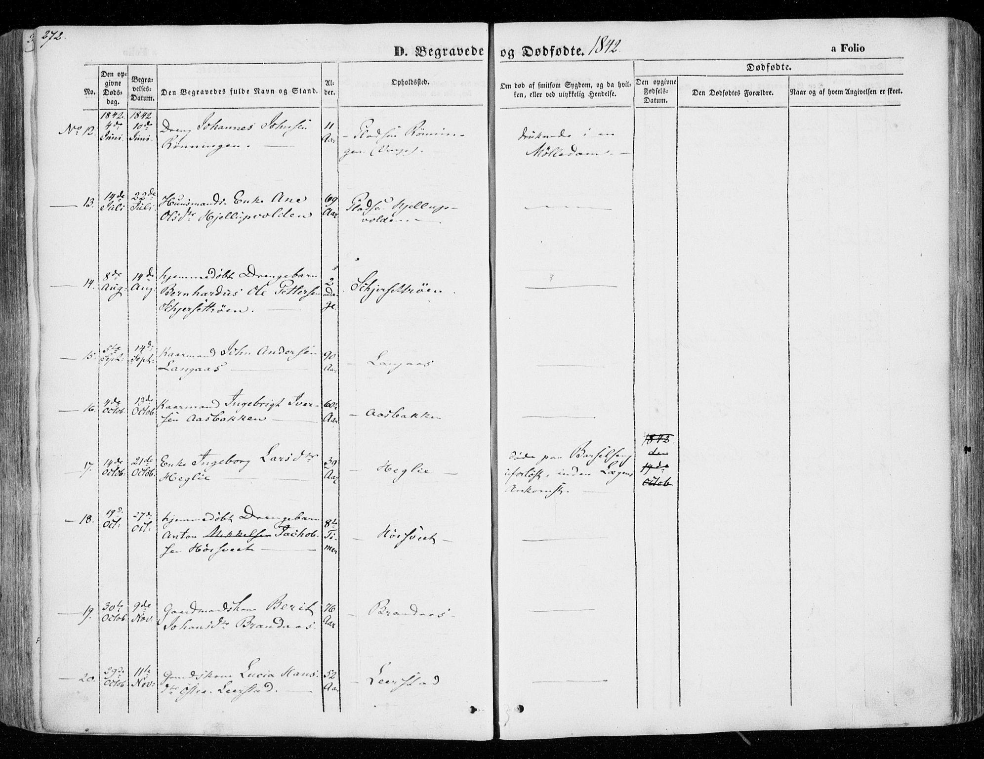 SAT, Ministerialprotokoller, klokkerbøker og fødselsregistre - Nord-Trøndelag, 701/L0007: Ministerialbok nr. 701A07 /1, 1842-1854, s. 272