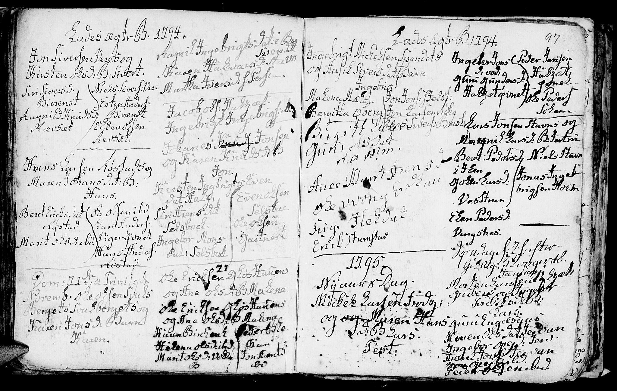SAT, Ministerialprotokoller, klokkerbøker og fødselsregistre - Sør-Trøndelag, 606/L0305: Klokkerbok nr. 606C01, 1757-1819, s. 97