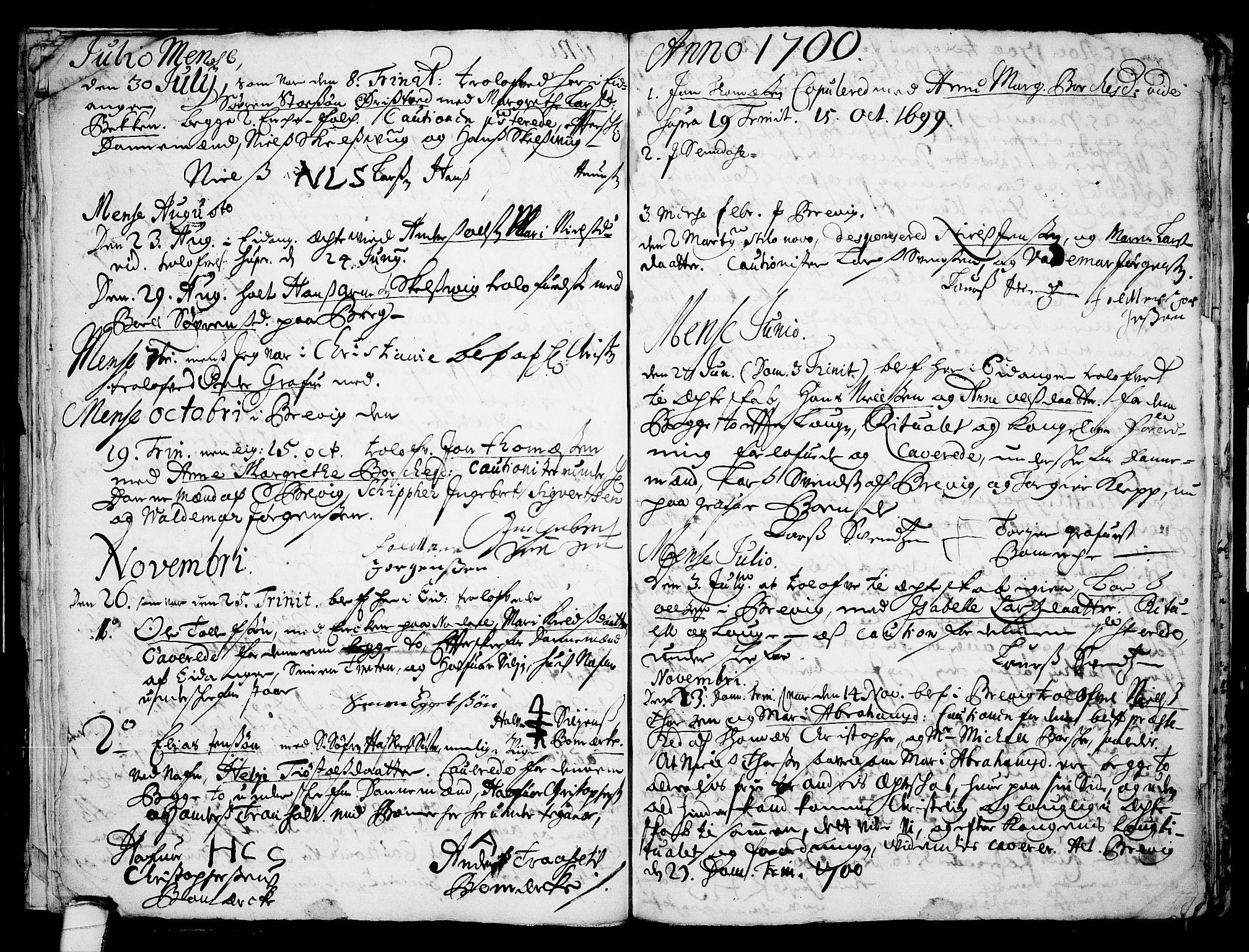 SAKO, Eidanger kirkebøker, F/Fa/L0001: Ministerialbok nr. 1, 1695-1717, s. 16