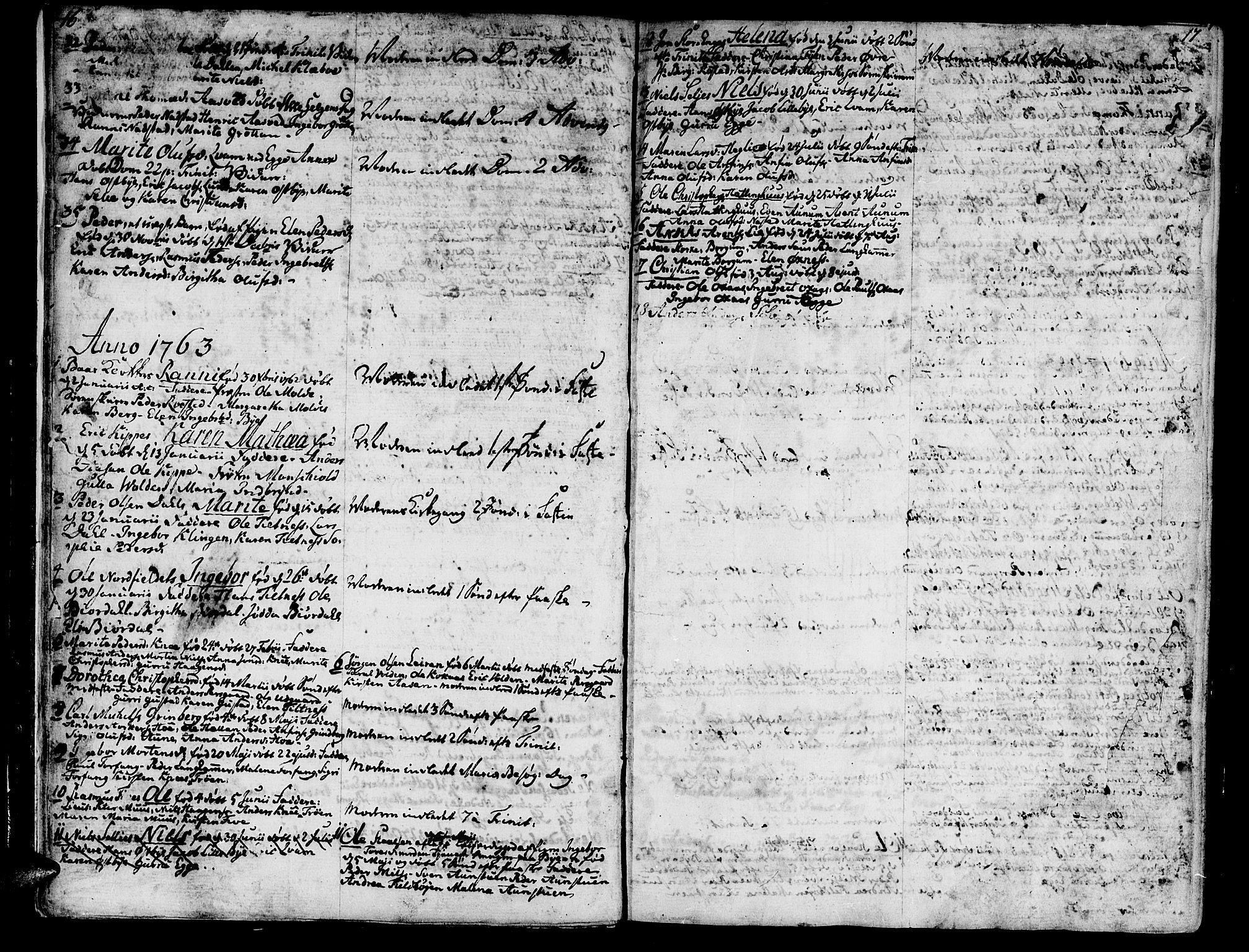 SAT, Ministerialprotokoller, klokkerbøker og fødselsregistre - Nord-Trøndelag, 746/L0440: Ministerialbok nr. 746A02, 1760-1815, s. 16-17