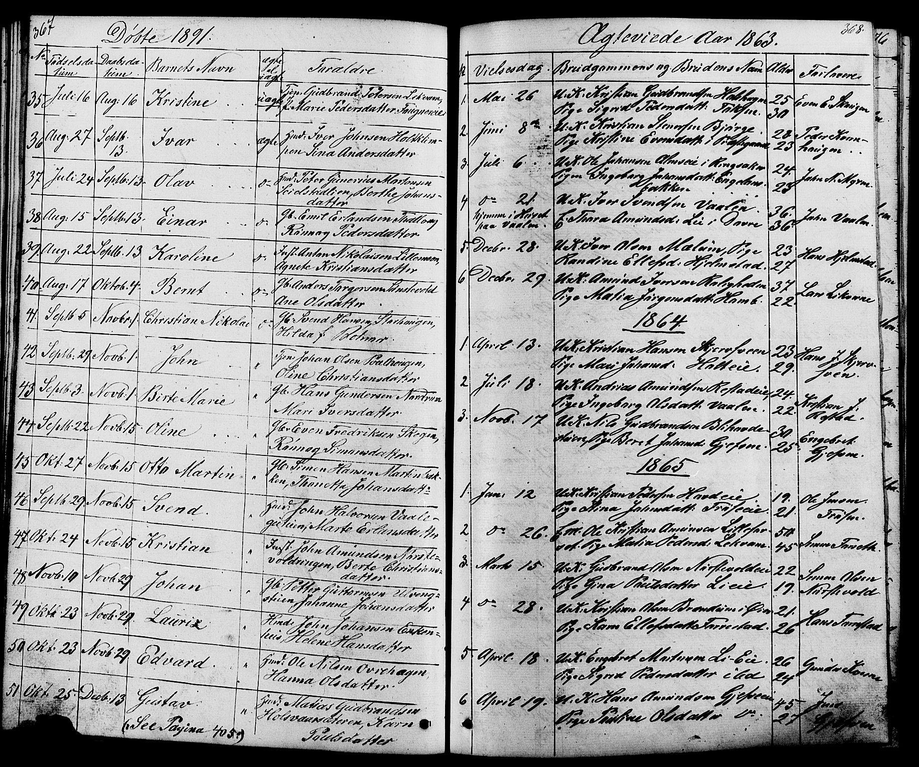 SAH, Østre Gausdal prestekontor, Klokkerbok nr. 1, 1863-1893, s. 367-368