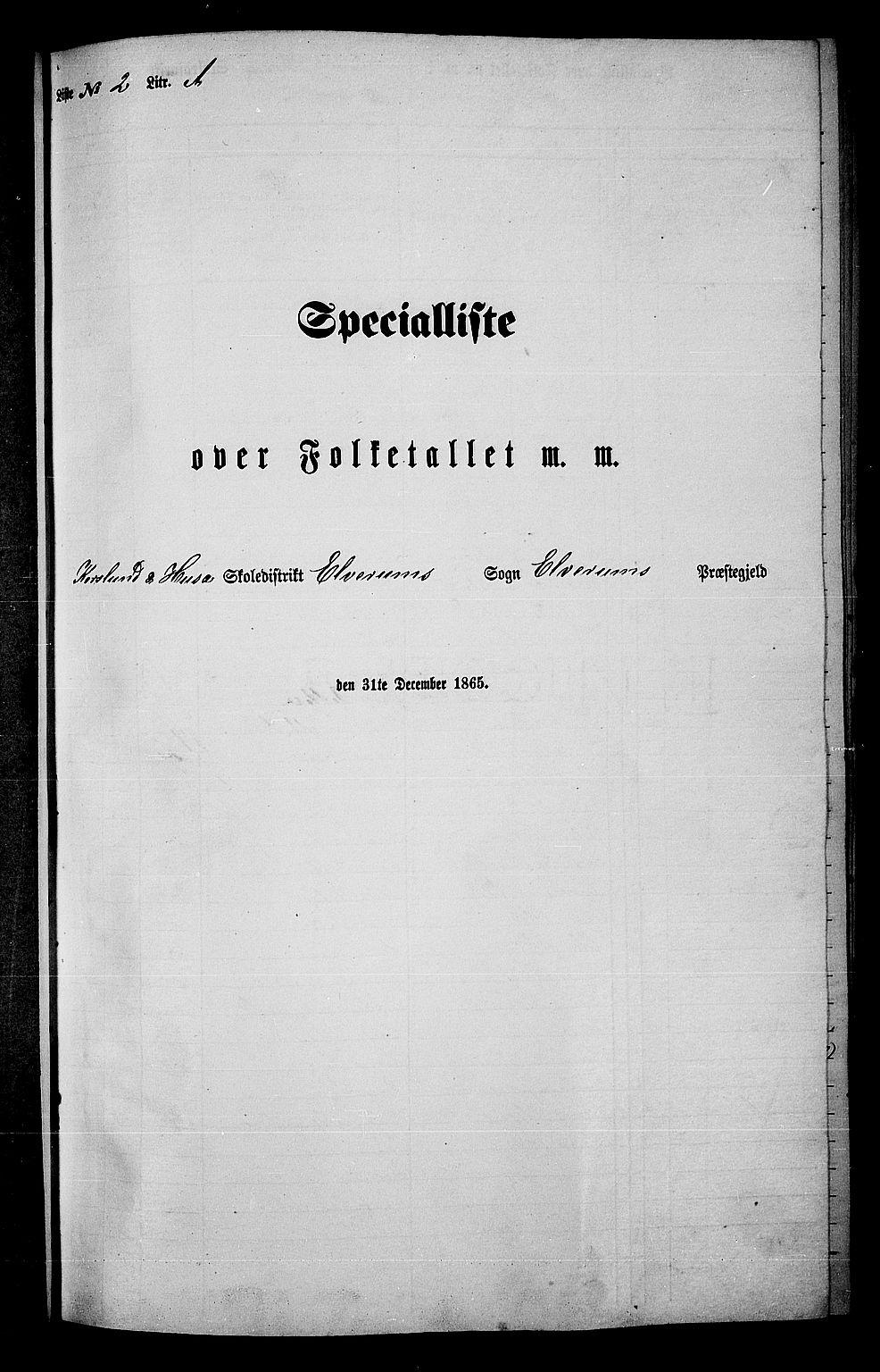 RA, Folketelling 1865 for 0427P Elverum prestegjeld, 1865, s. 37