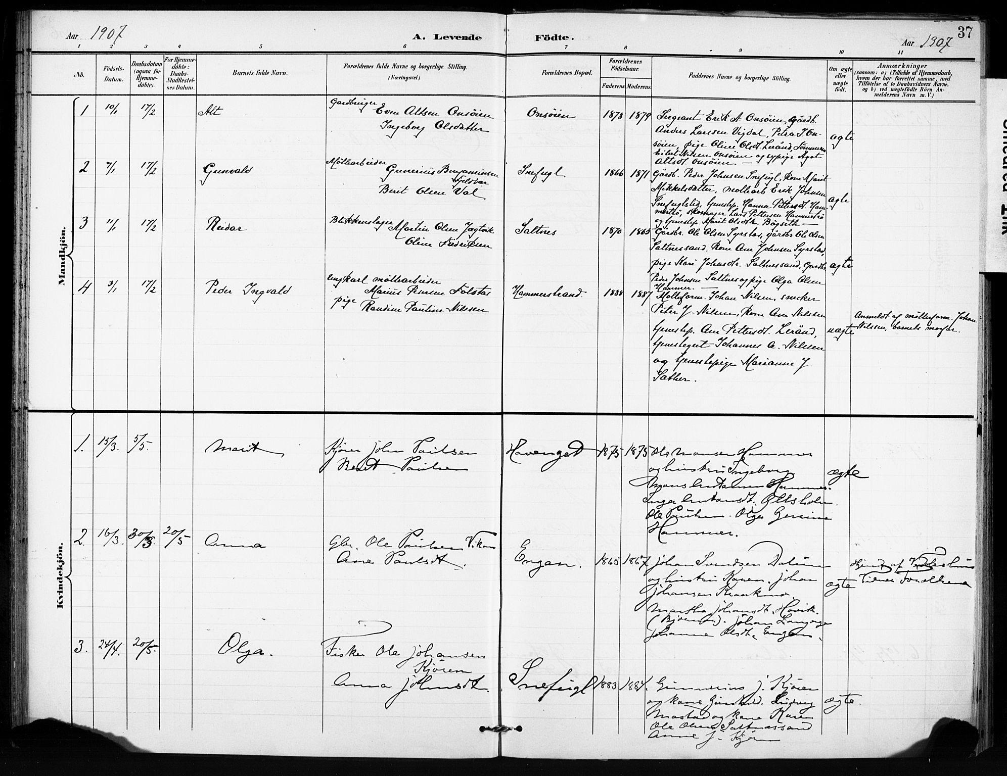 SAT, Ministerialprotokoller, klokkerbøker og fødselsregistre - Sør-Trøndelag, 666/L0787: Ministerialbok nr. 666A05, 1895-1908, s. 37
