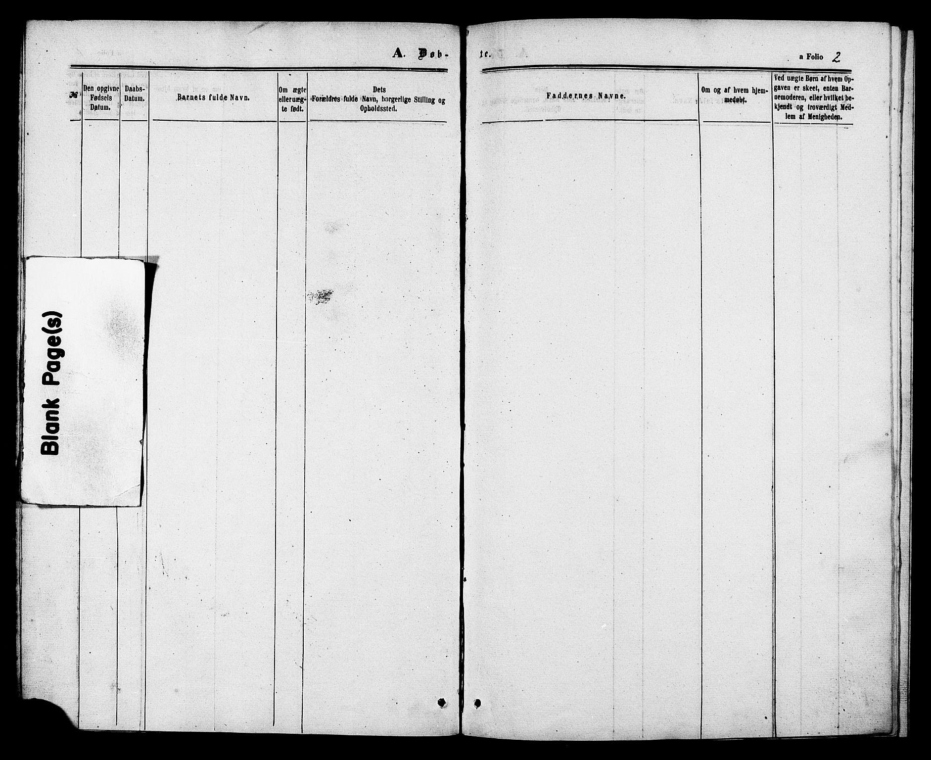SAT, Ministerialprotokoller, klokkerbøker og fødselsregistre - Sør-Trøndelag, 629/L0485: Ministerialbok nr. 629A01, 1862-1869, s. 2