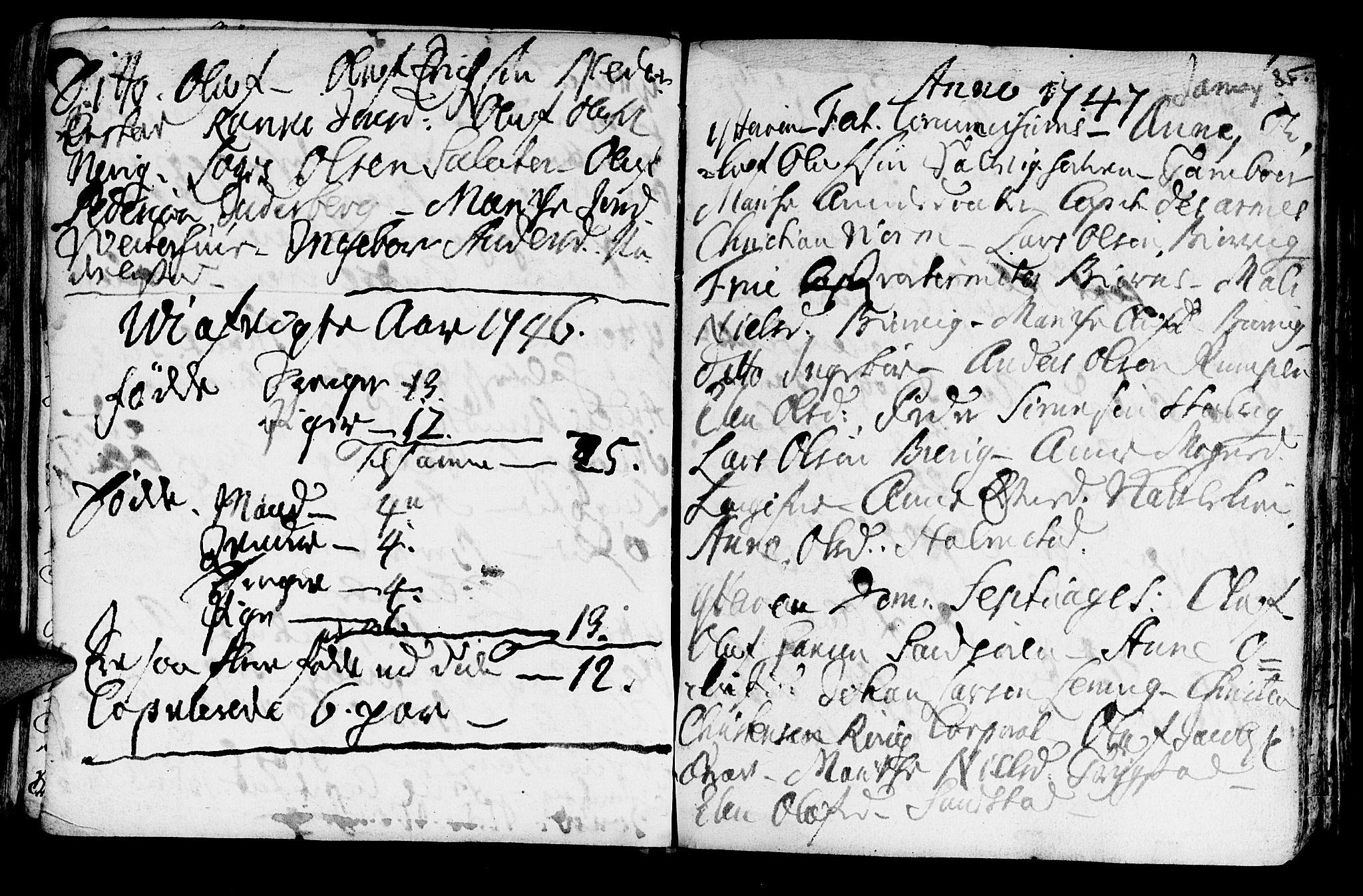 SAT, Ministerialprotokoller, klokkerbøker og fødselsregistre - Nord-Trøndelag, 722/L0215: Ministerialbok nr. 722A02, 1718-1755, s. 85