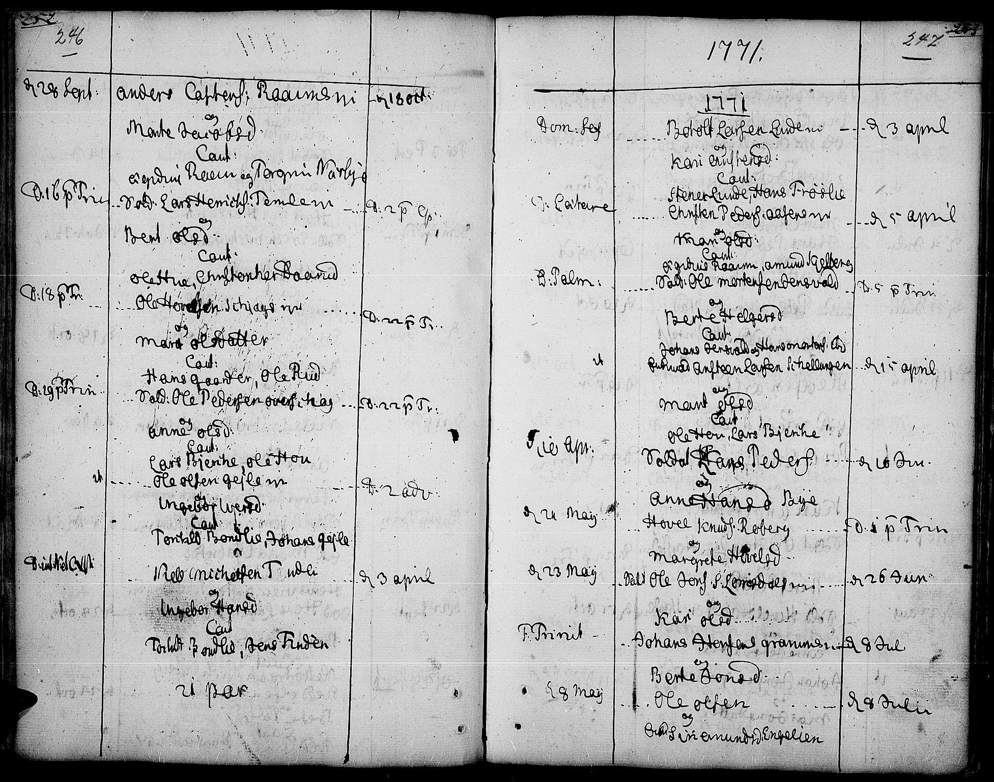 SAH, Land prestekontor, Ministerialbok nr. 5, 1765-1784, s. 246-247