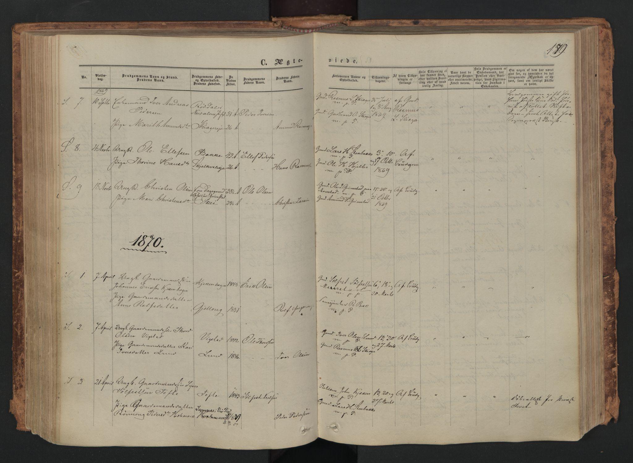 SAH, Skjåk prestekontor, Ministerialbok nr. 1, 1863-1879, s. 179
