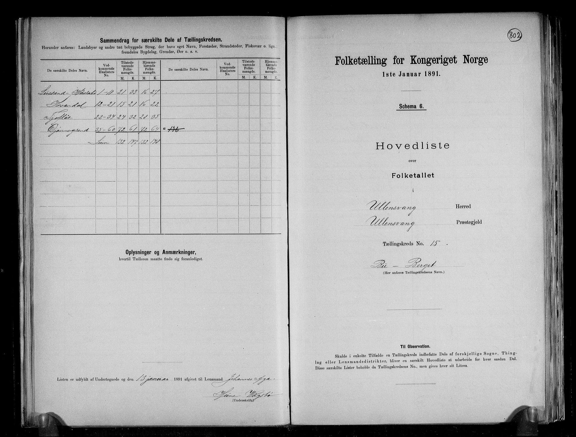 RA, Folketelling 1891 for 1230 Ullensvang herred, 1891, s. 39