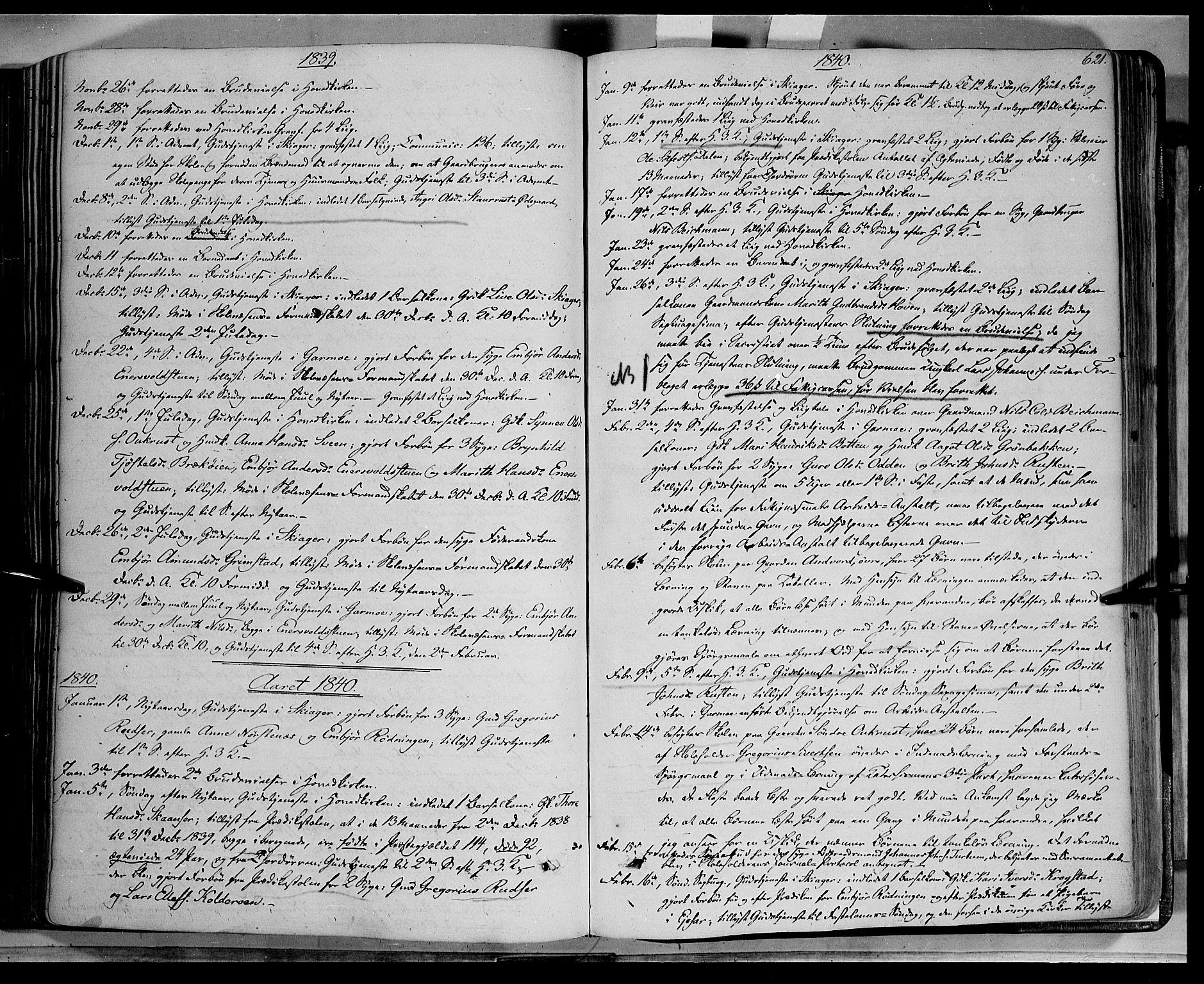 SAH, Lom prestekontor, K/L0006: Ministerialbok nr. 6B, 1837-1863, s. 621