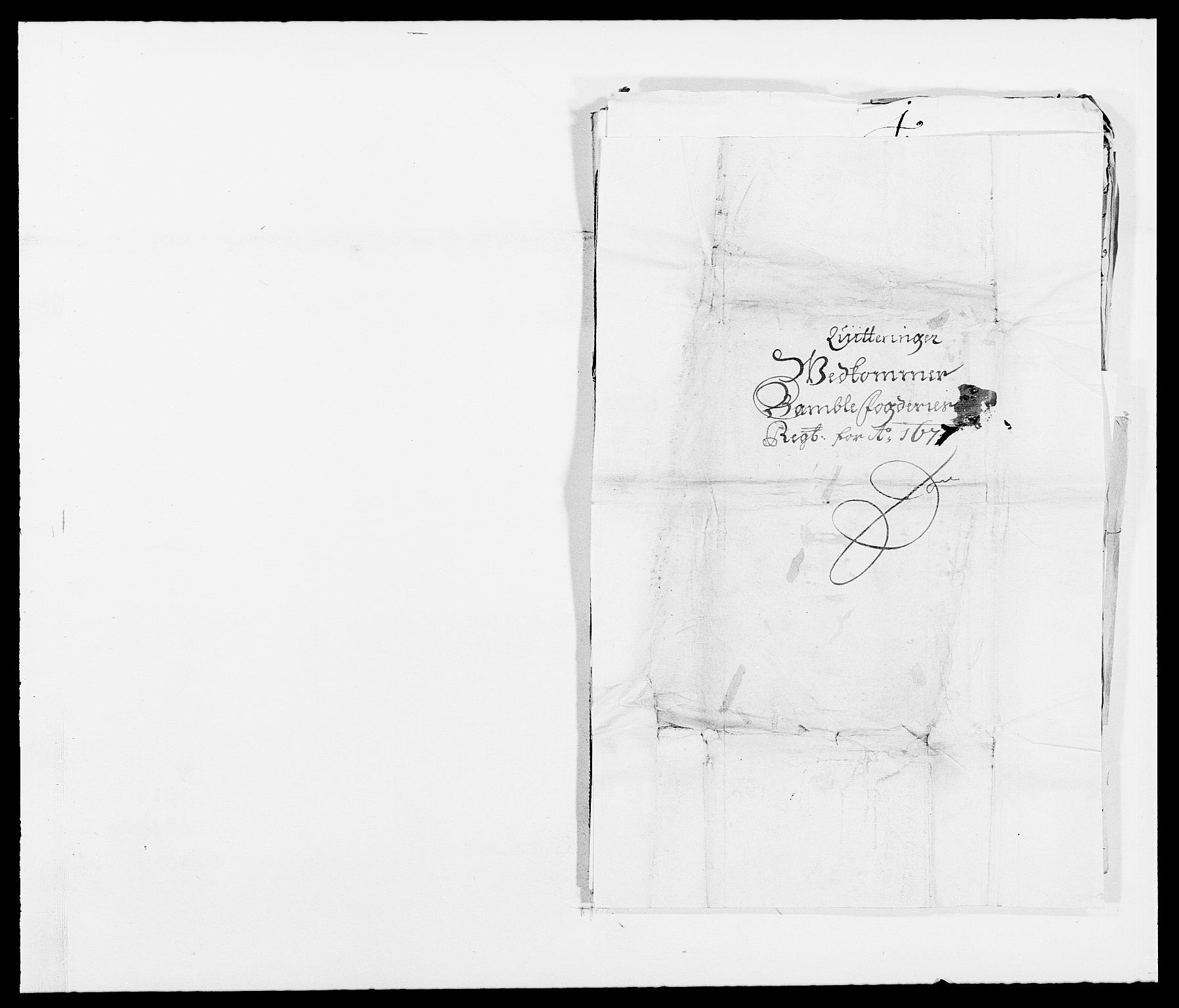 RA, Rentekammeret inntil 1814, Reviderte regnskaper, Fogderegnskap, R34/L2043: Fogderegnskap Bamble, 1676-1677, s. 460