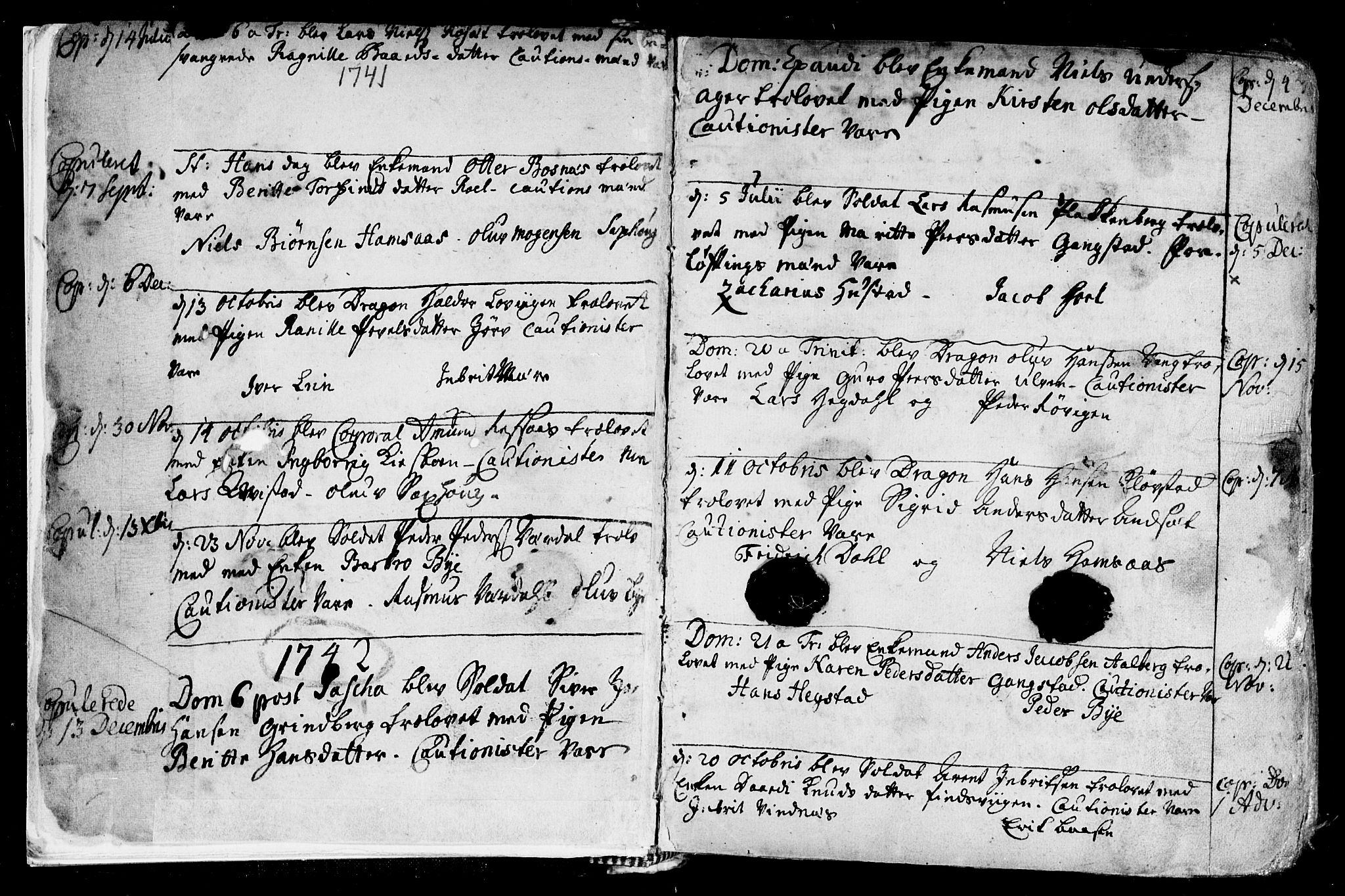 SAT, Ministerialprotokoller, klokkerbøker og fødselsregistre - Nord-Trøndelag, 730/L0272: Ministerialbok nr. 730A01, 1733-1764, s. 2