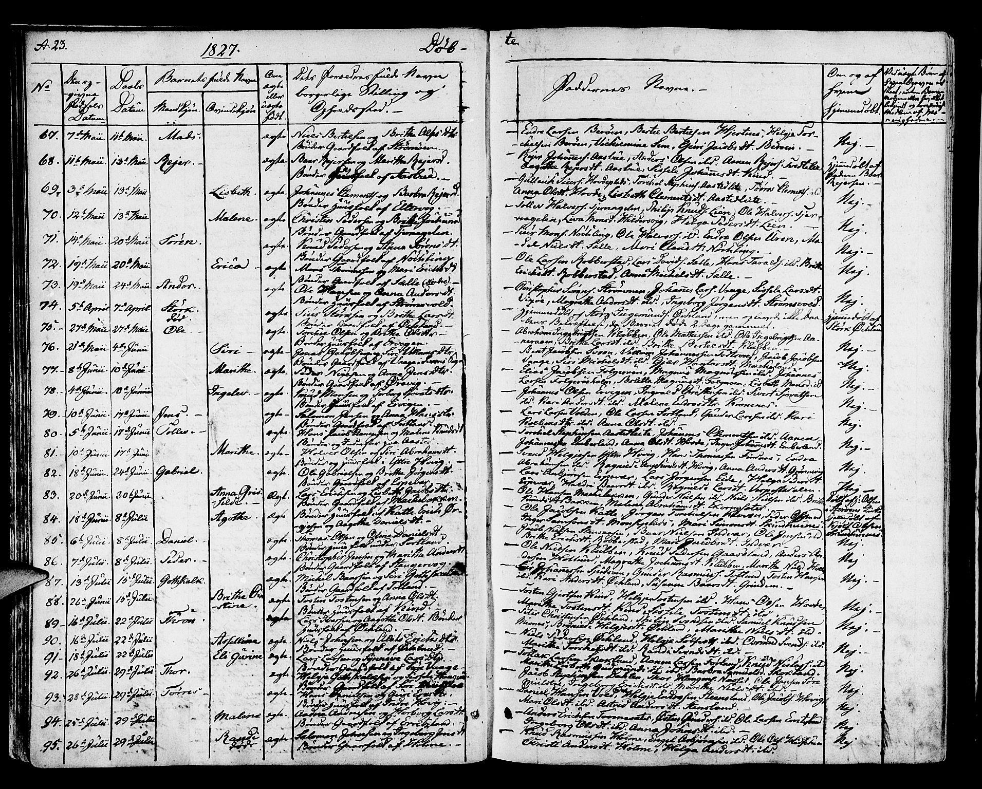 SAB, Finnås sokneprestembete, H/Ha/Haa/Haaa/L0005: Ministerialbok nr. A 5, 1823-1835, s. 23
