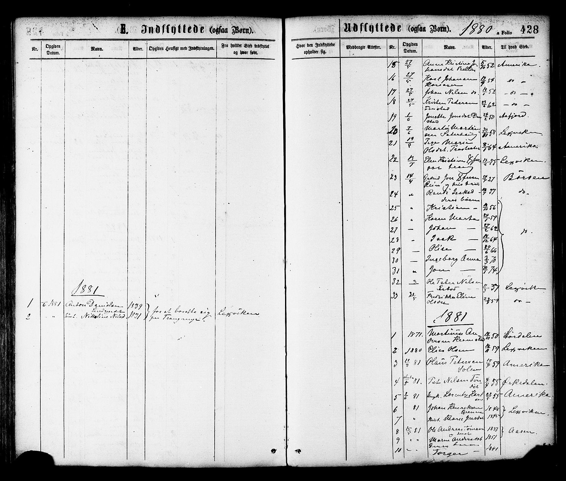 SAT, Ministerialprotokoller, klokkerbøker og fødselsregistre - Sør-Trøndelag, 646/L0613: Ministerialbok nr. 646A11, 1870-1884, s. 428