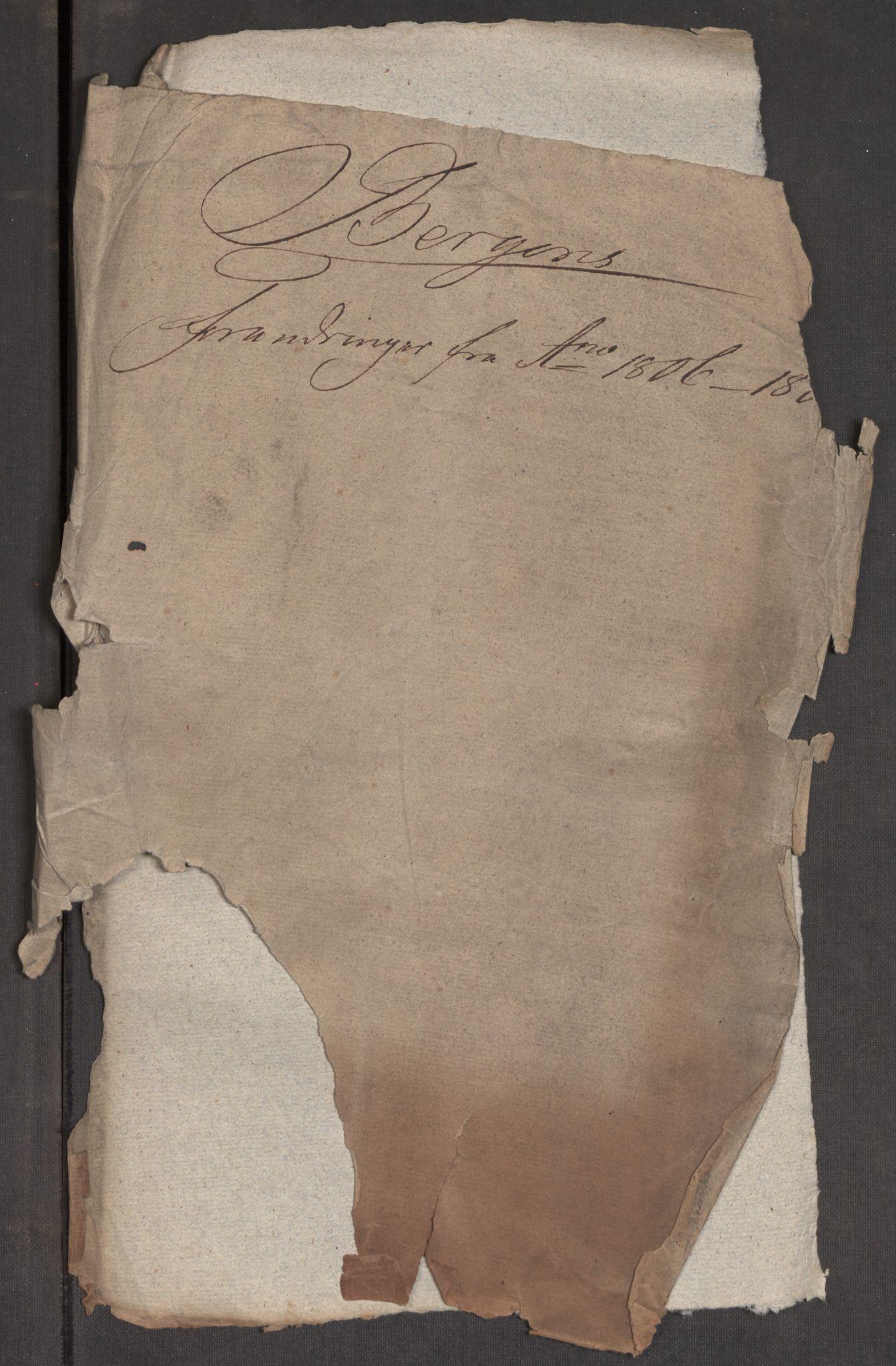 RA, Kommersekollegiet, Brannforsikringskontoret 1767-1814, F/Fa/L0006: Bergen, 1797-1807