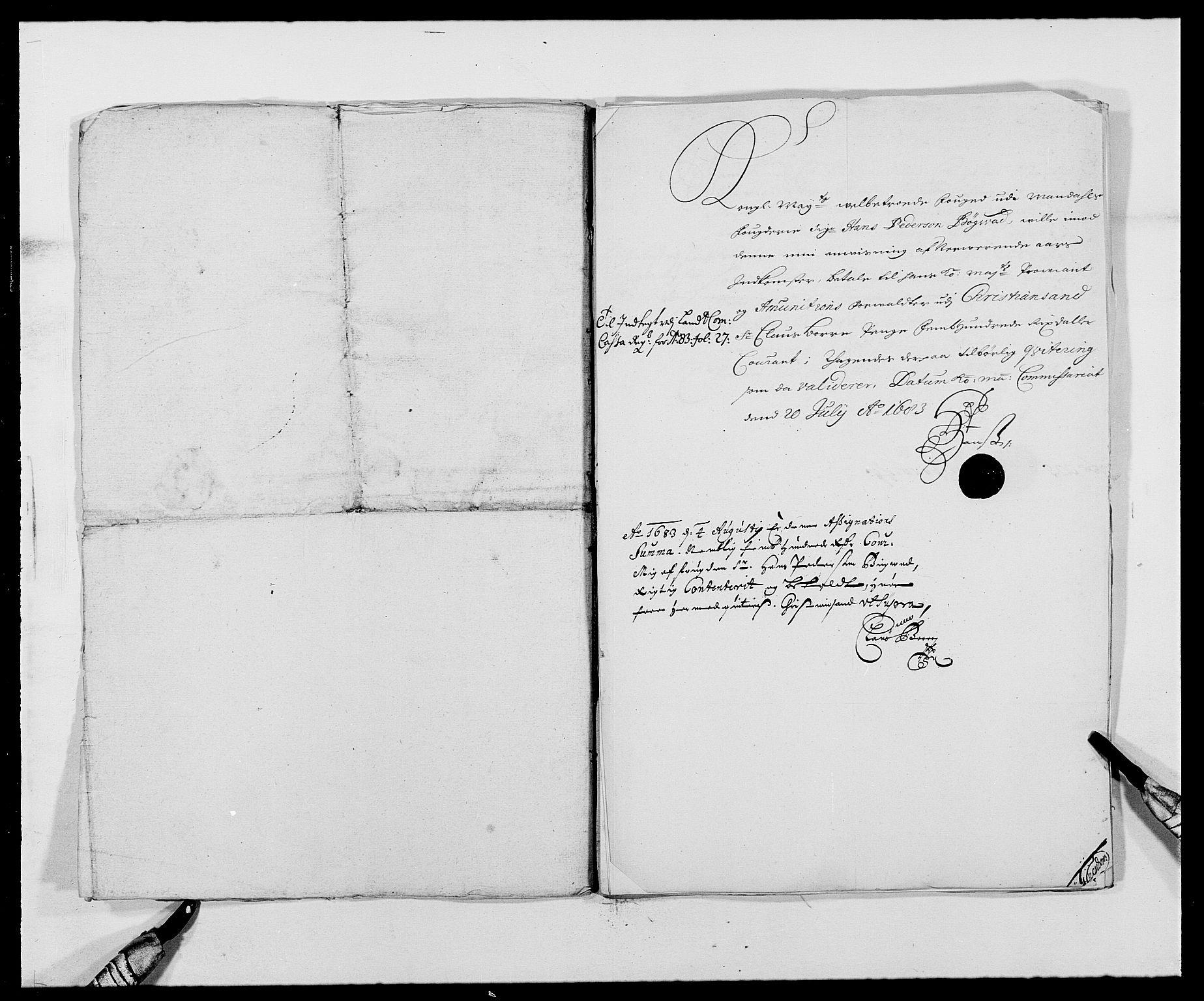 RA, Rentekammeret inntil 1814, Reviderte regnskaper, Fogderegnskap, R42/L2541: Mandal fogderi, 1681-1684, s. 213