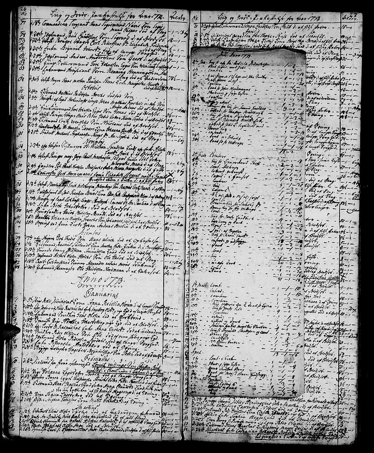 SAT, Ministerialprotokoller, klokkerbøker og fødselsregistre - Sør-Trøndelag, 602/L0134: Klokkerbok nr. 602C02, 1759-1812, s. 26-27