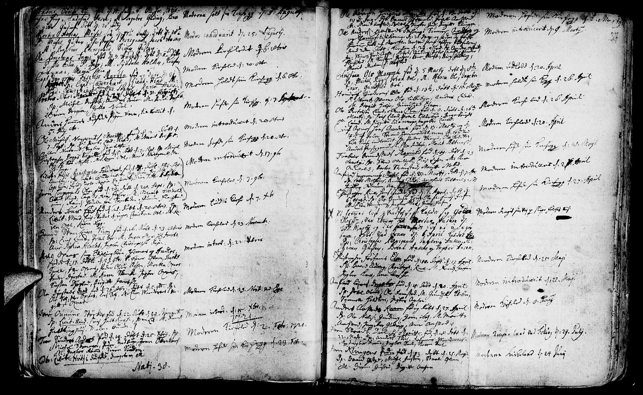 SAT, Ministerialprotokoller, klokkerbøker og fødselsregistre - Nord-Trøndelag, 746/L0439: Ministerialbok nr. 746A01, 1688-1759, s. 37