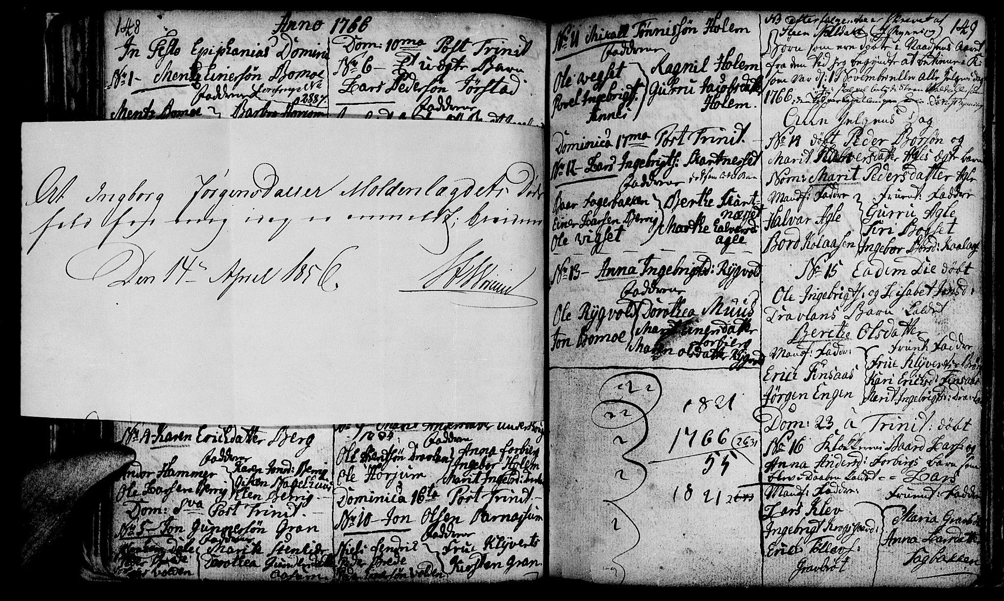 SAT, Ministerialprotokoller, klokkerbøker og fødselsregistre - Nord-Trøndelag, 749/L0467: Ministerialbok nr. 749A01, 1733-1787, s. 148-149