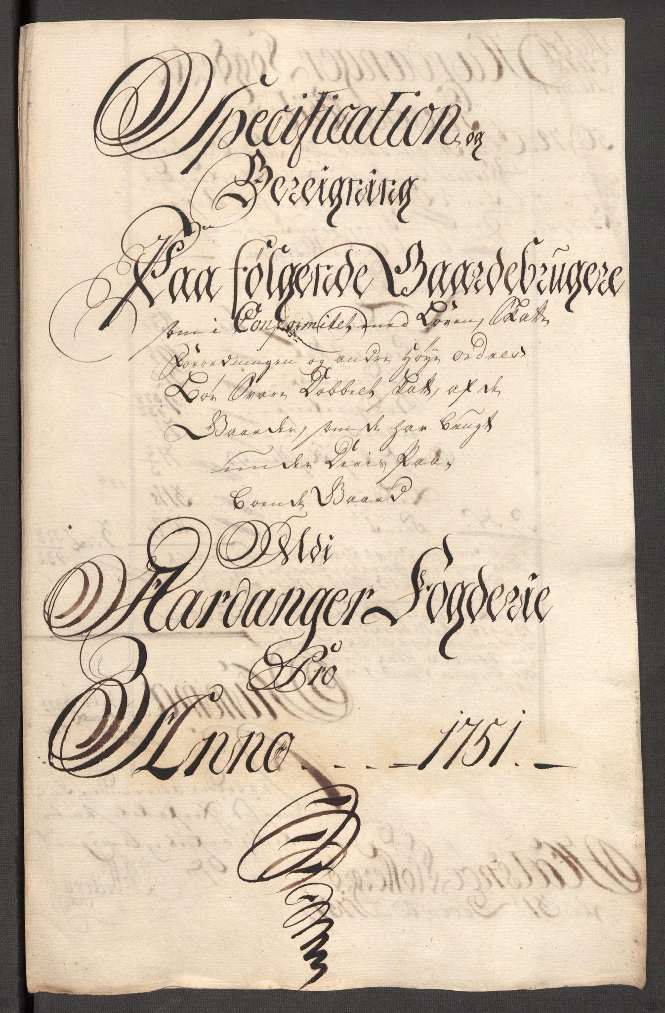 RA, Rentekammeret inntil 1814, Reviderte regnskaper, Fogderegnskap, R48/L3056: Fogderegnskap Sunnhordland og Hardanger, 1751, s. 264