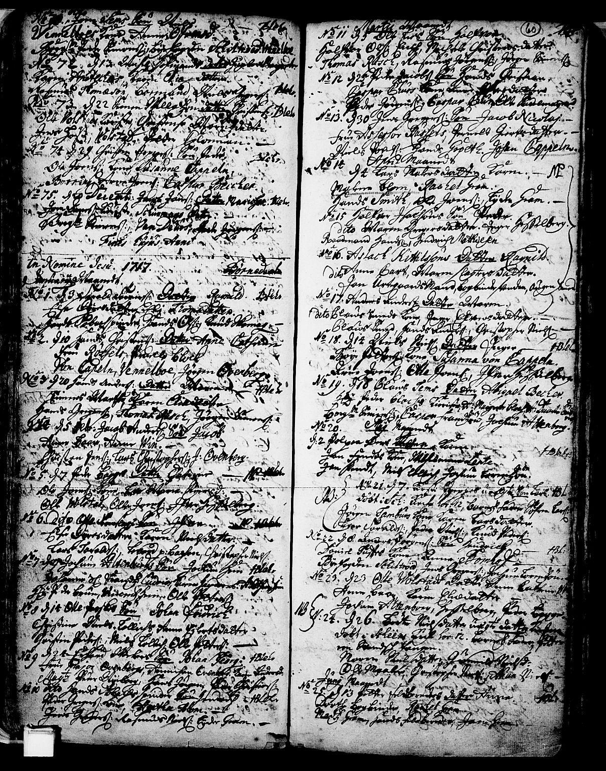 SAKO, Skien kirkebøker, F/Fa/L0002: Ministerialbok nr. 2, 1716-1757, s. 60