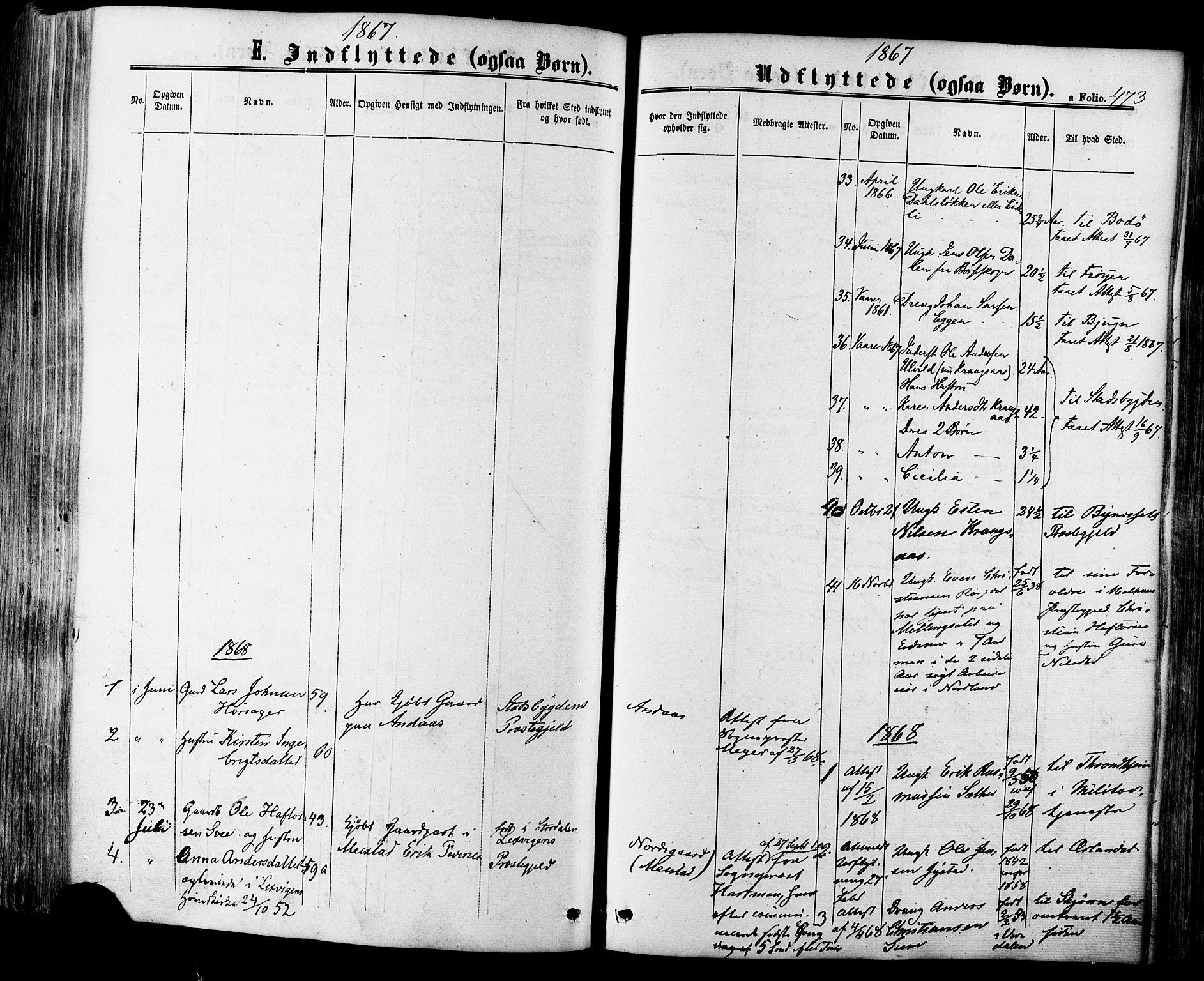 SAT, Ministerialprotokoller, klokkerbøker og fødselsregistre - Sør-Trøndelag, 665/L0772: Ministerialbok nr. 665A07, 1856-1878, s. 473