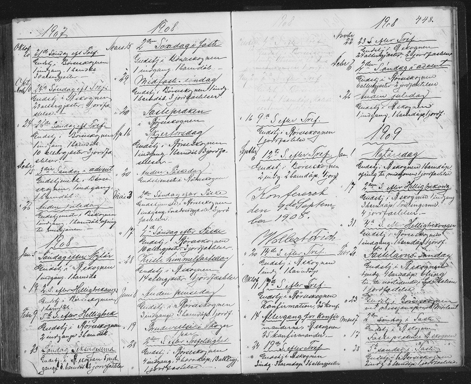 SAT, Ministerialprotokoller, klokkerbøker og fødselsregistre - Sør-Trøndelag, 667/L0798: Klokkerbok nr. 667C03, 1867-1929, s. 448