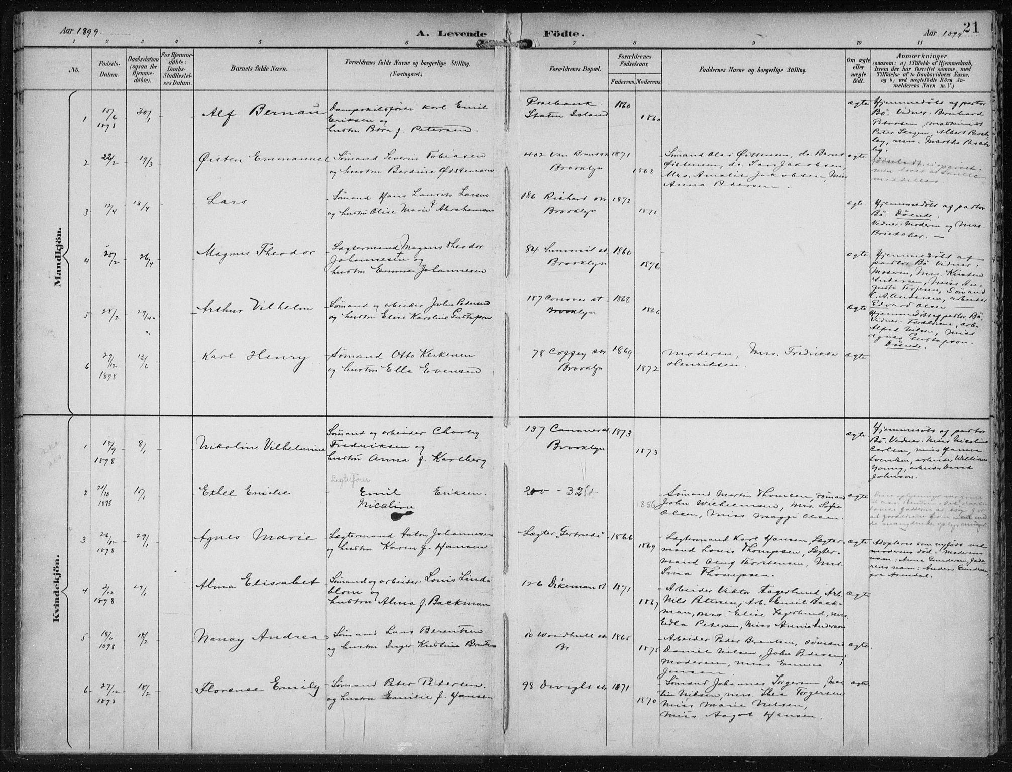 SAB, Den Norske Sjømannsmisjon i utlandet*, Ministerialbok nr. A 4, 1893-1901, s. 21