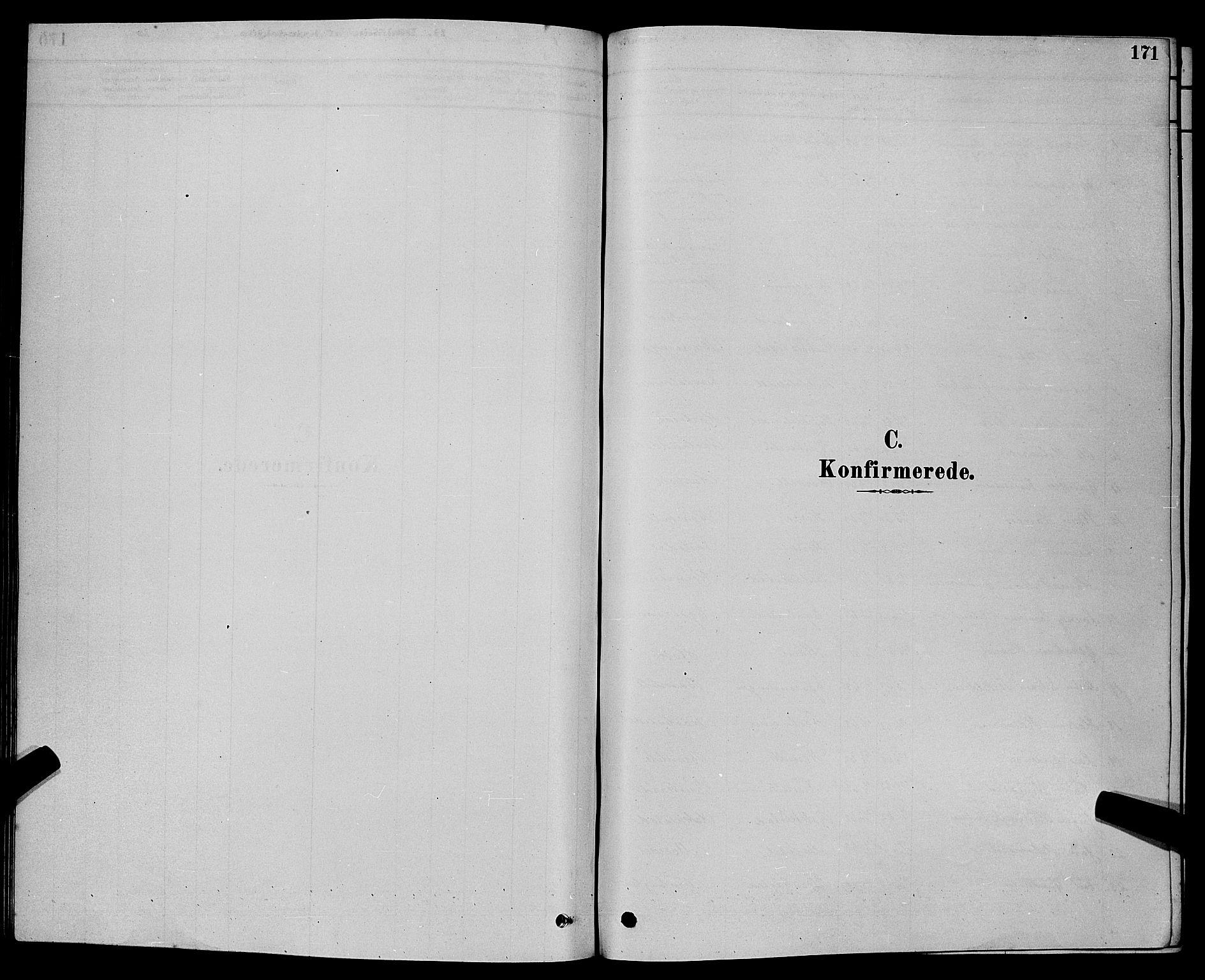 SAKO, Bamble kirkebøker, G/Ga/L0008: Klokkerbok nr. I 8, 1878-1888, s. 171