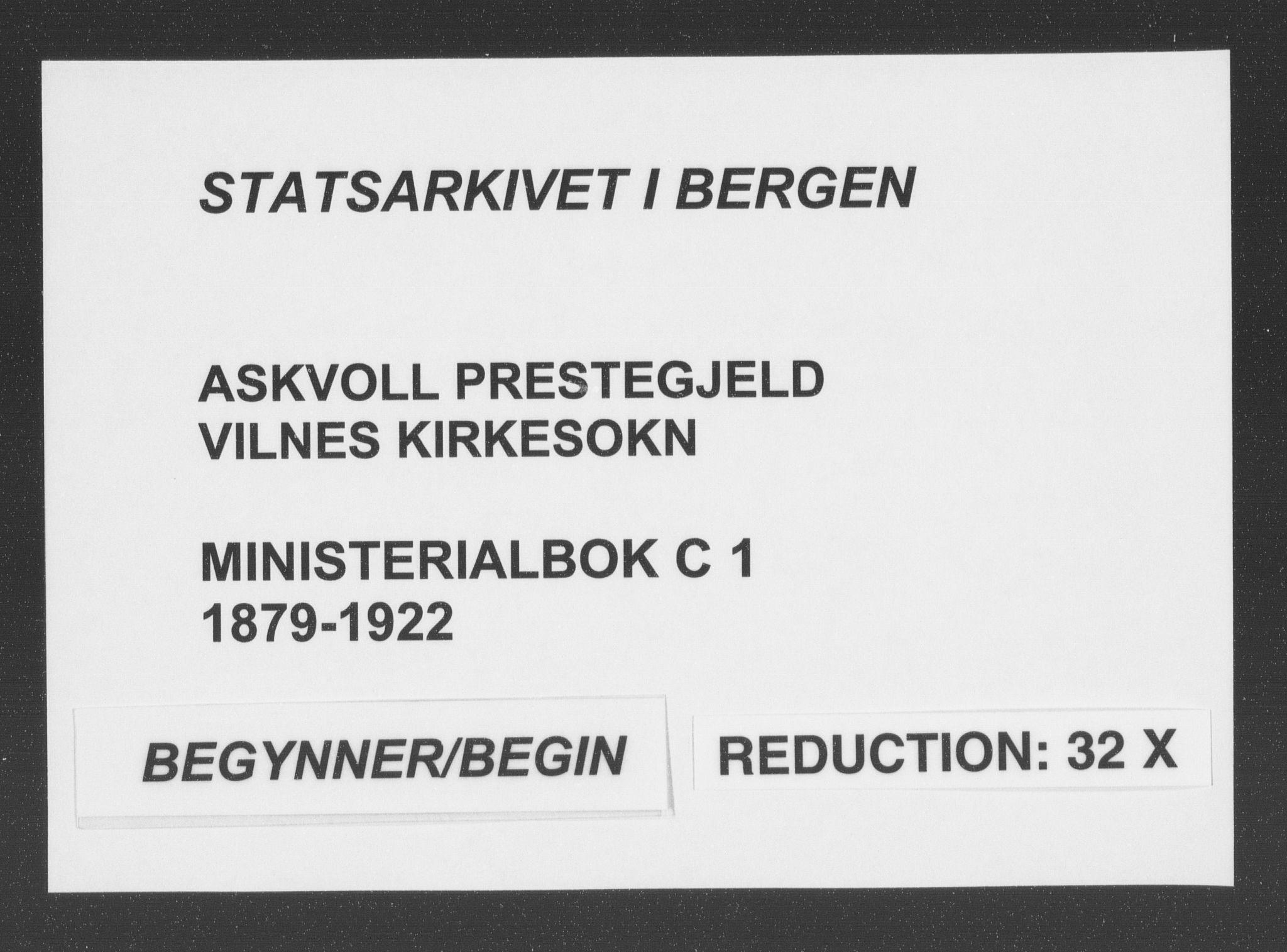 SAB, Askvoll Sokneprestembete, Ministerialbok nr. C  1, 1879-1922