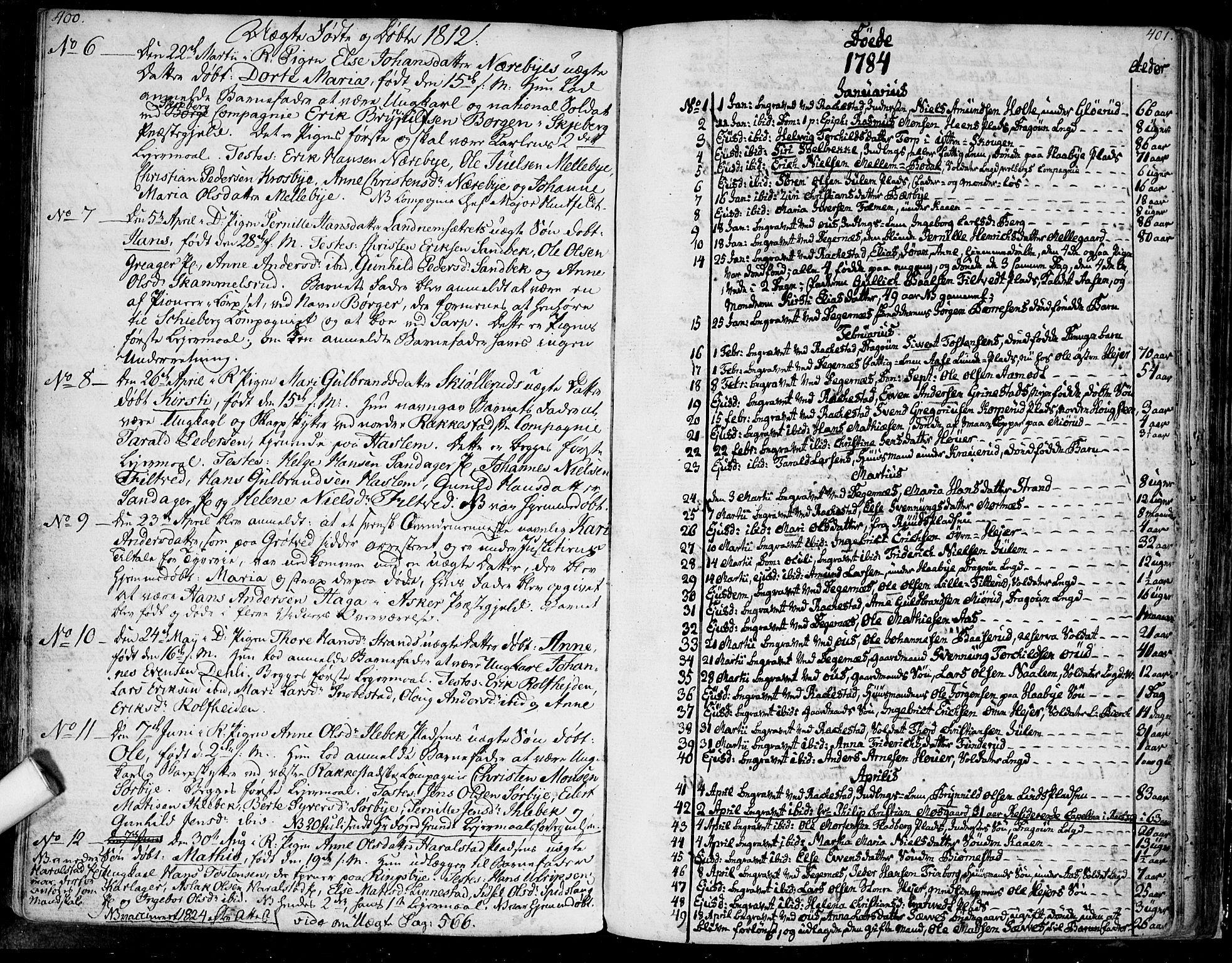 SAO, Rakkestad prestekontor Kirkebøker, F/Fa/L0005: Ministerialbok nr. I 5, 1784-1814, s. 400-401