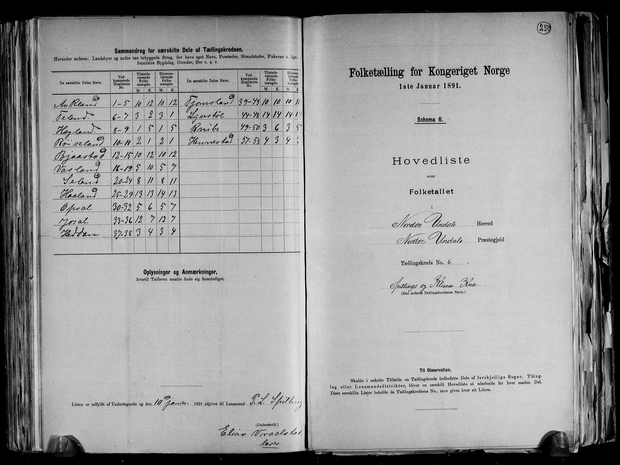 RA, Folketelling 1891 for 1028 Nord-Audnedal herred, 1891, s. 15