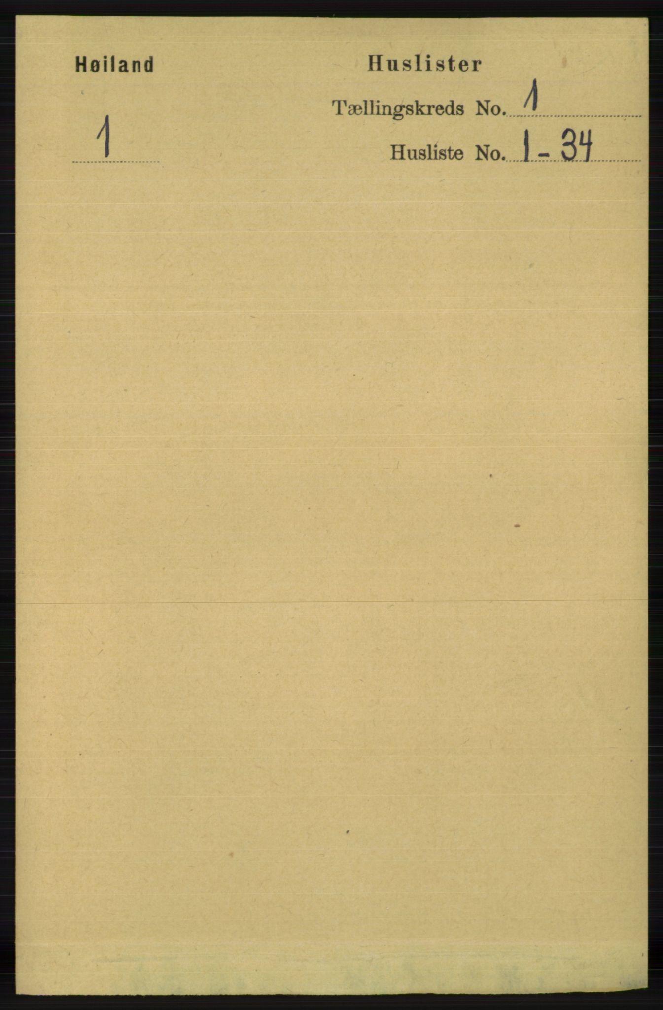 RA, Folketelling 1891 for 1123 Høyland herred, 1891, s. 27