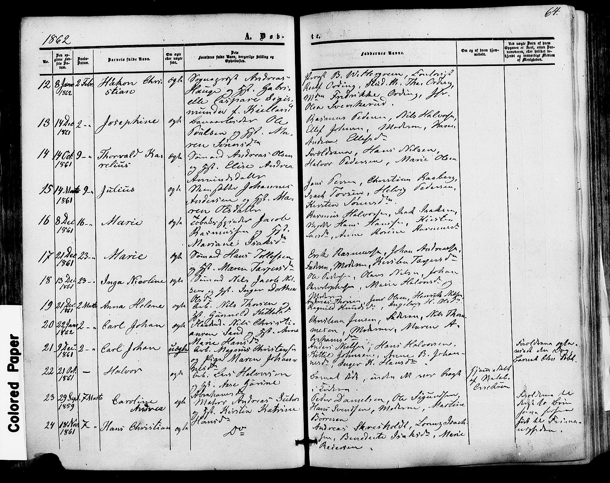 SAKO, Skien kirkebøker, F/Fa/L0007: Ministerialbok nr. 7, 1856-1865, s. 64