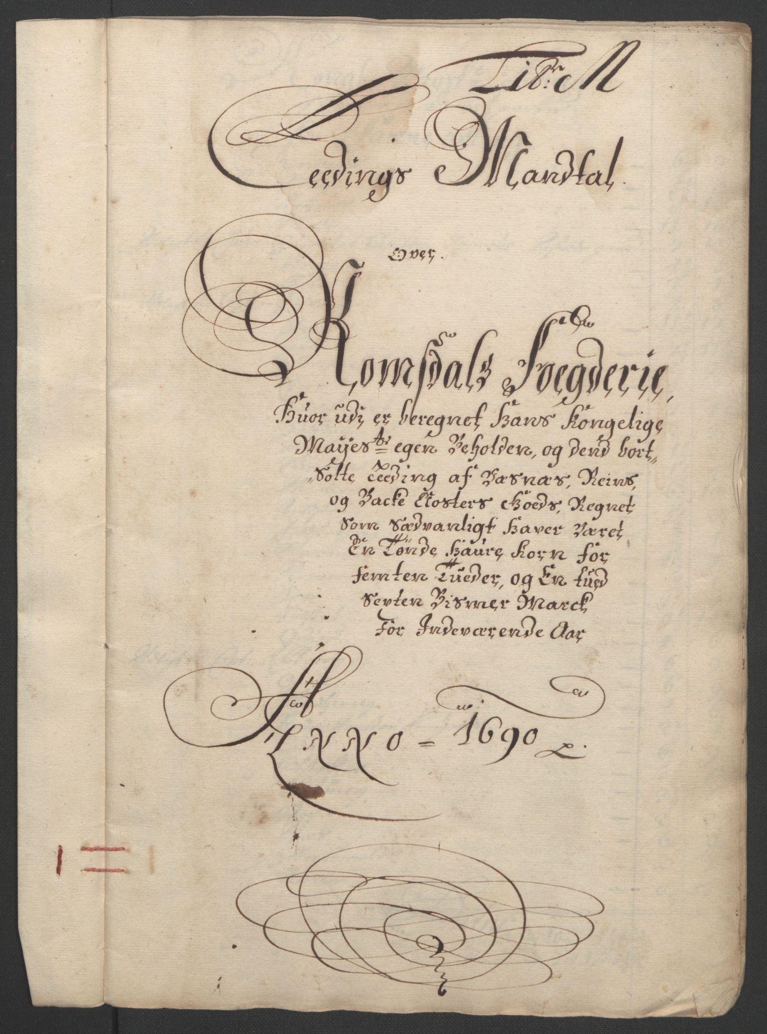 RA, Rentekammeret inntil 1814, Reviderte regnskaper, Fogderegnskap, R55/L3649: Fogderegnskap Romsdal, 1690-1691, s. 131